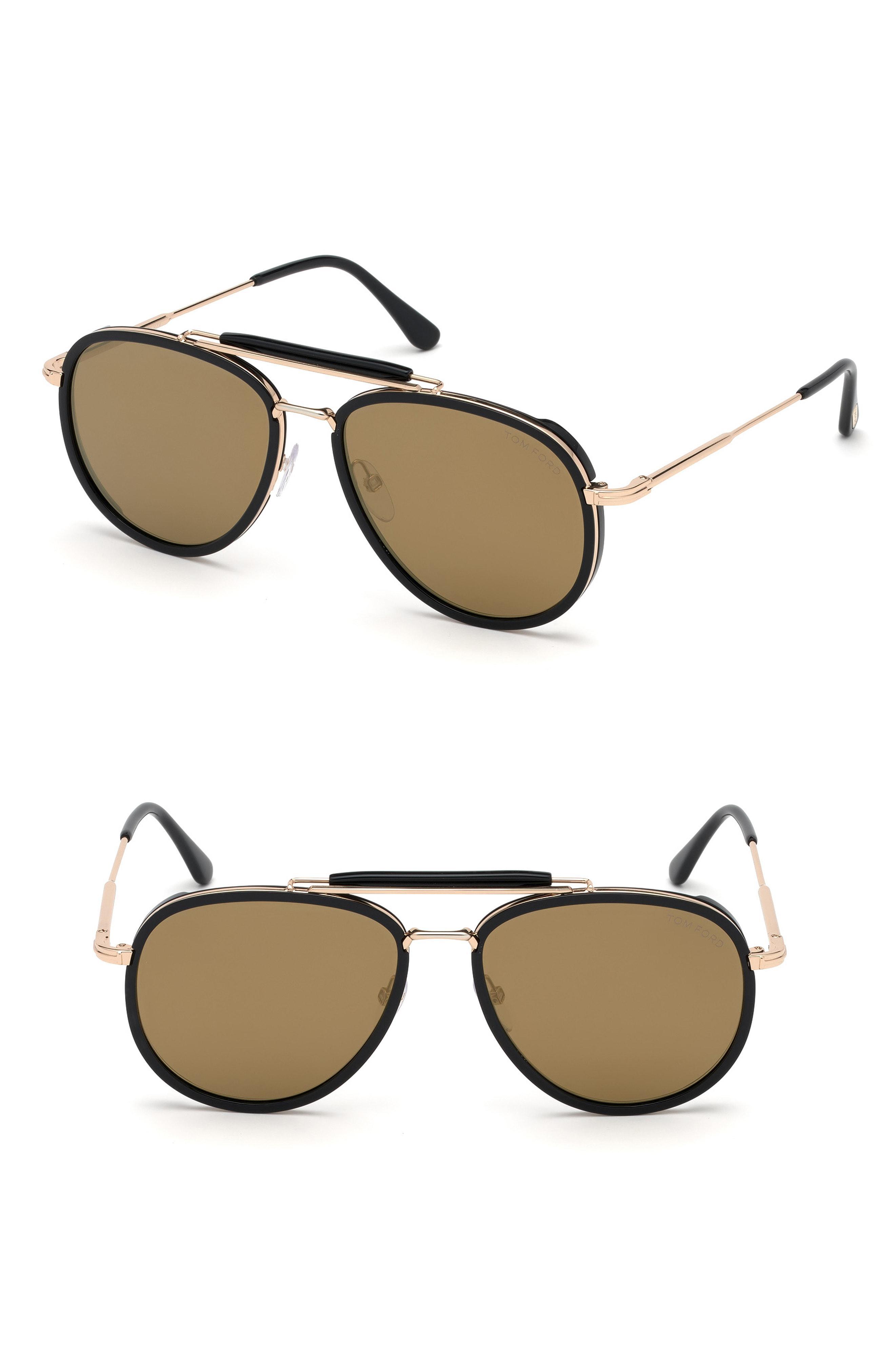 517b1e884d Lyst - Tom Ford Tripp 58mm Aviator Sunglasses - in Metallic for Men