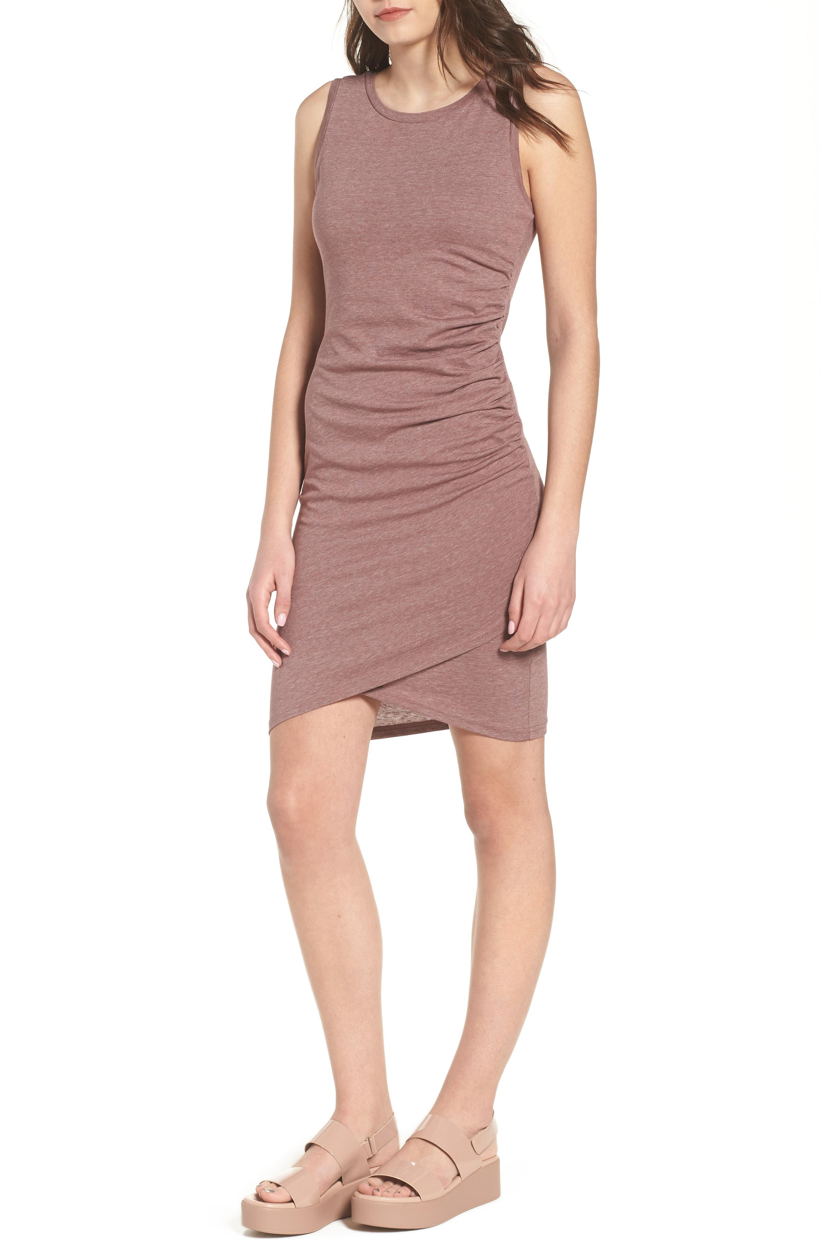435f87afd8cc Leith. Women s Ruched Body-con Tank Dress
