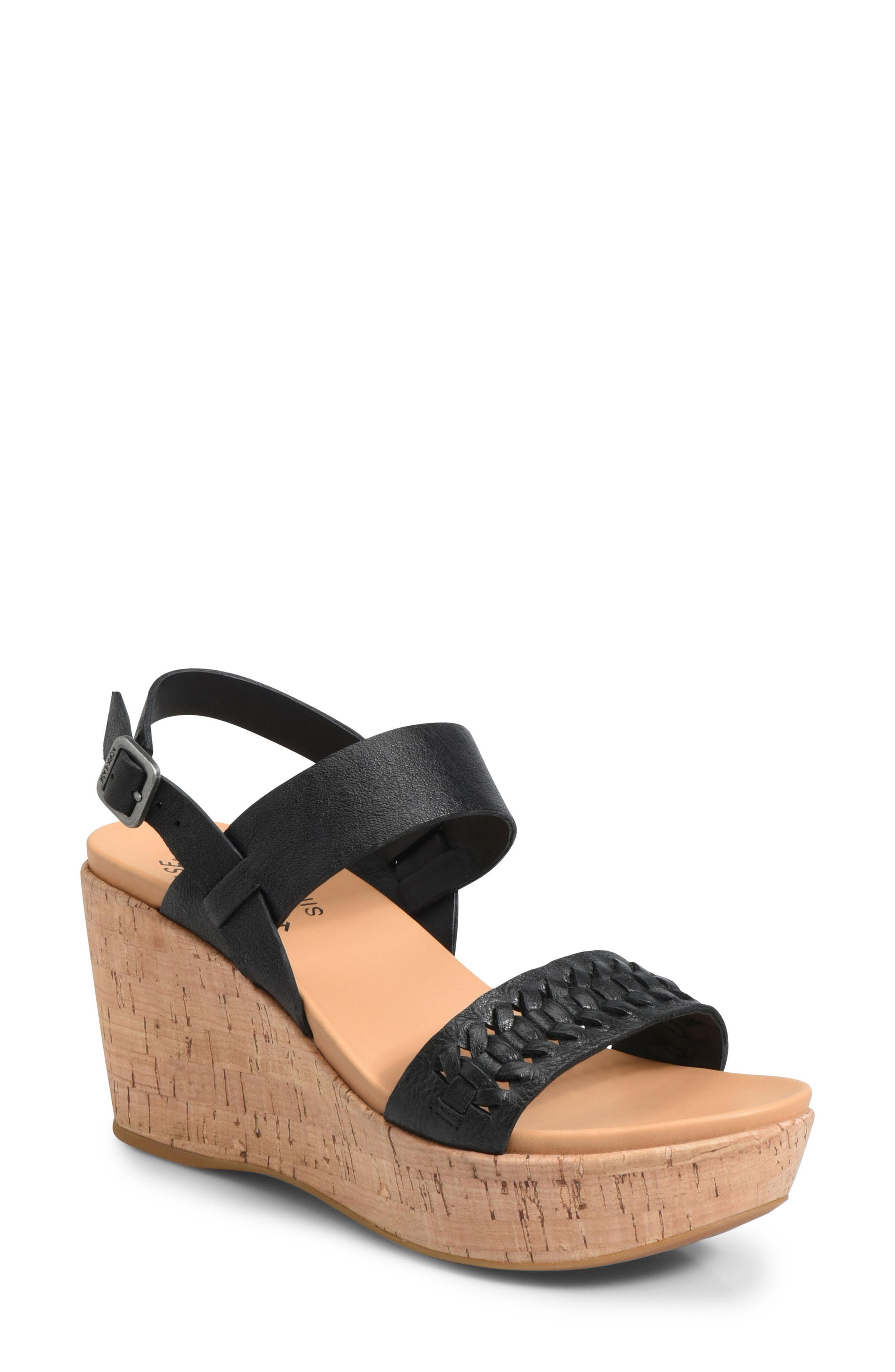 6cffc4a9a85 Lyst - Kork-Ease Kork-ease Austin Braid Wedge Sandal in Black