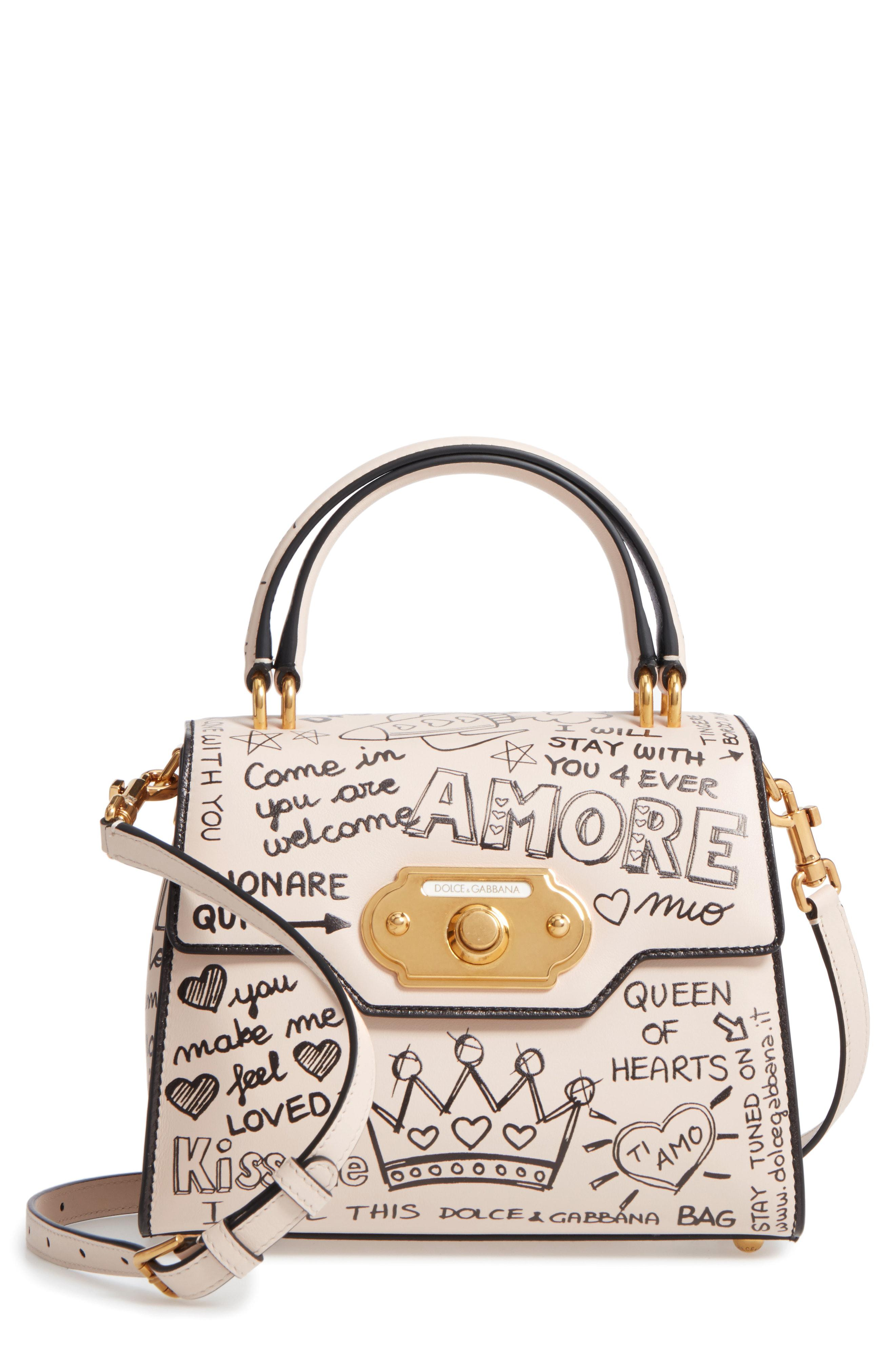 Lyst - Dolce   Gabbana Medium Welcome Leather Satchel in White ... f9877e8663