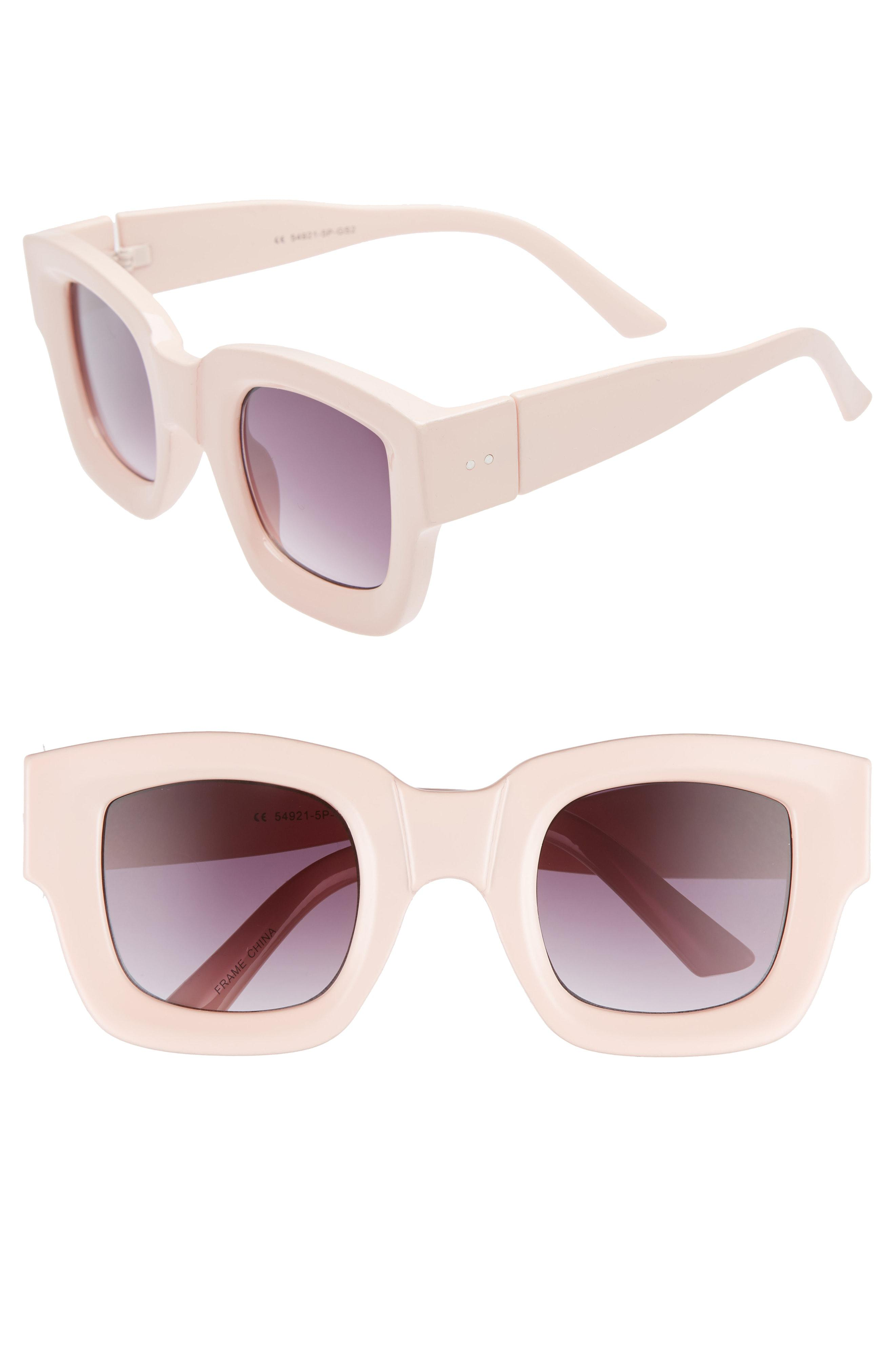 483865b203 Lyst - Glance Eyewear 45mm Square Sunglasses - Pale Pink in Pink