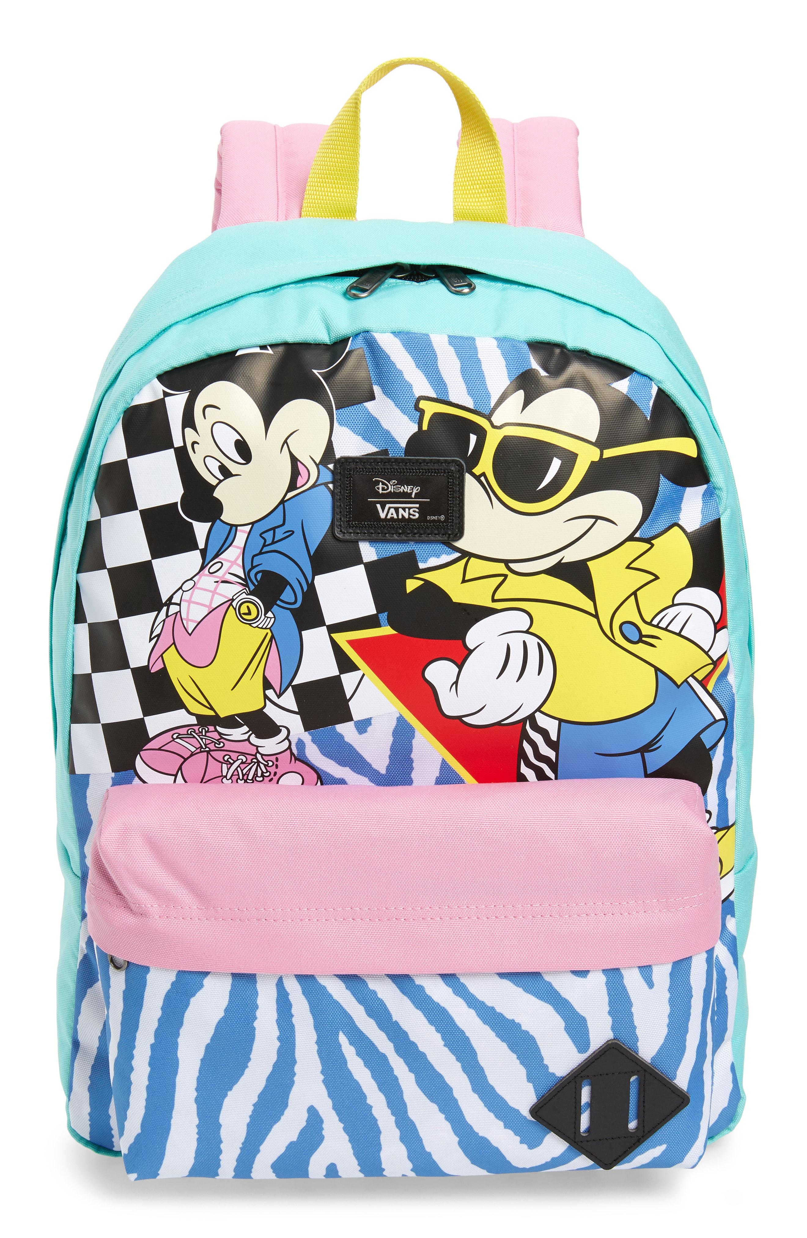 5327e7970f Vans - Blue X Disney Mickey s 90th Anniversary - Retro Backpack for Men -  Lyst. View fullscreen