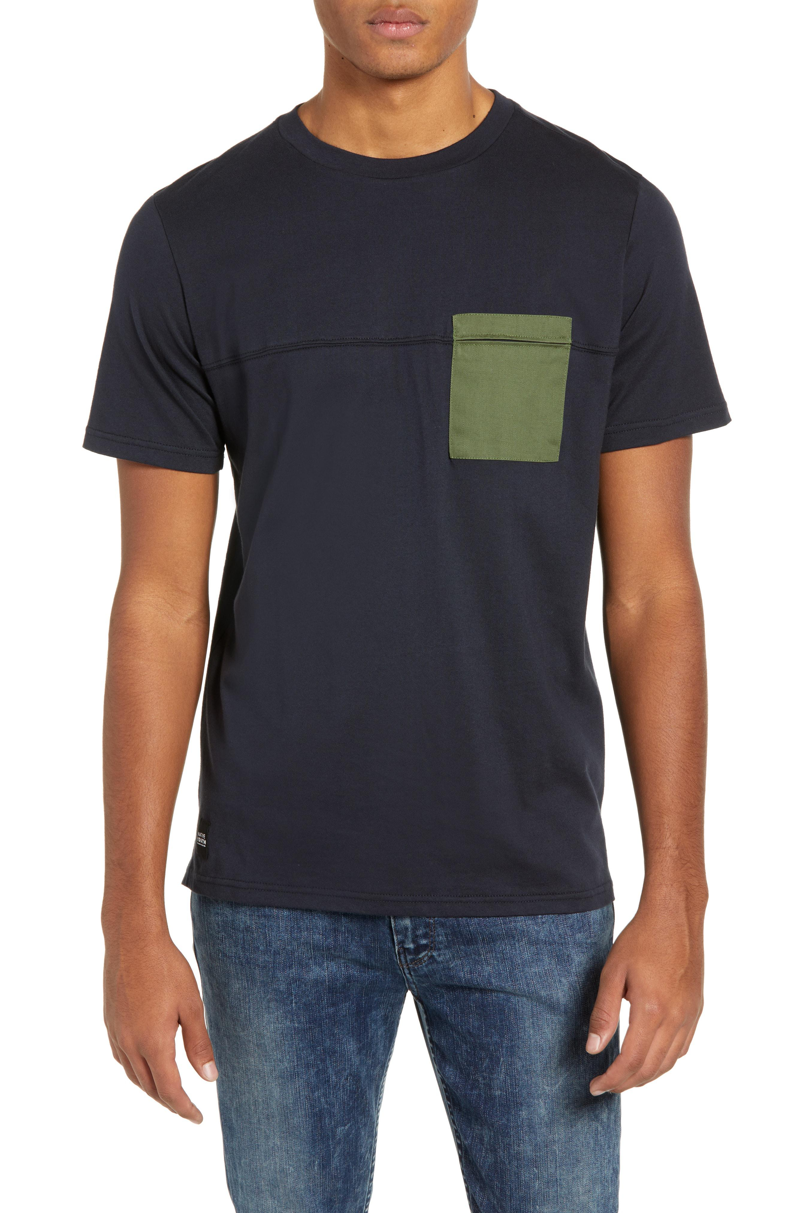 b8f26079217 Lyst - Native Youth Seamed Pocket T-shirt in Black for Men