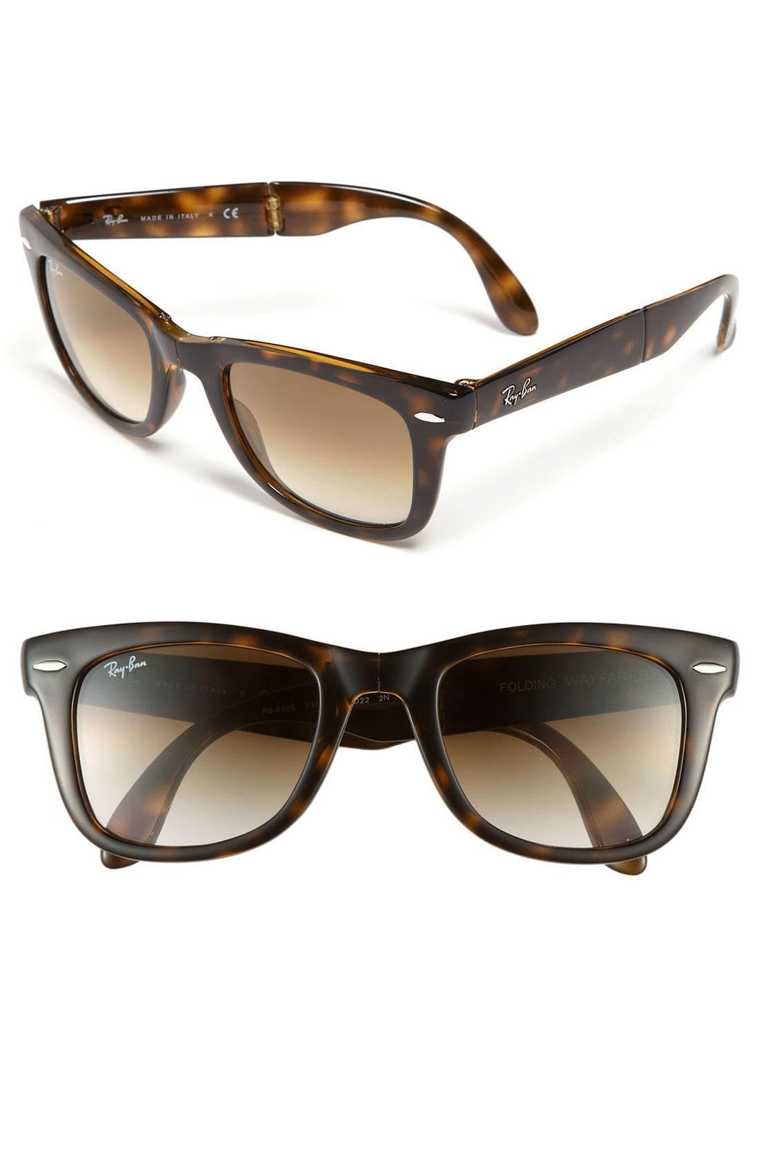 a04afae1ecb Lyst - Ray-Ban Standard 50mm Folding Wayfarer Sunglasses - Light ...