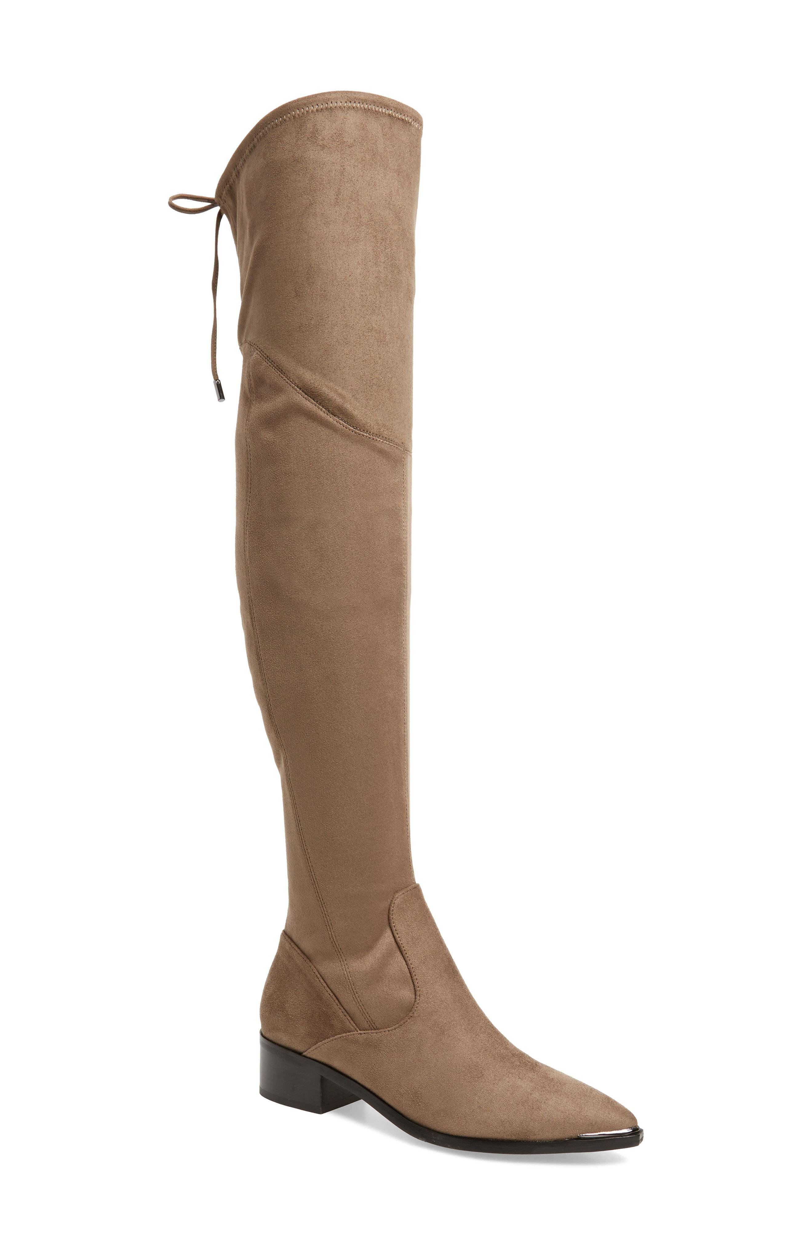 8cc61a9fd6d Lyst - Marc Fisher . Yuna Over The Knee Boot in Natural