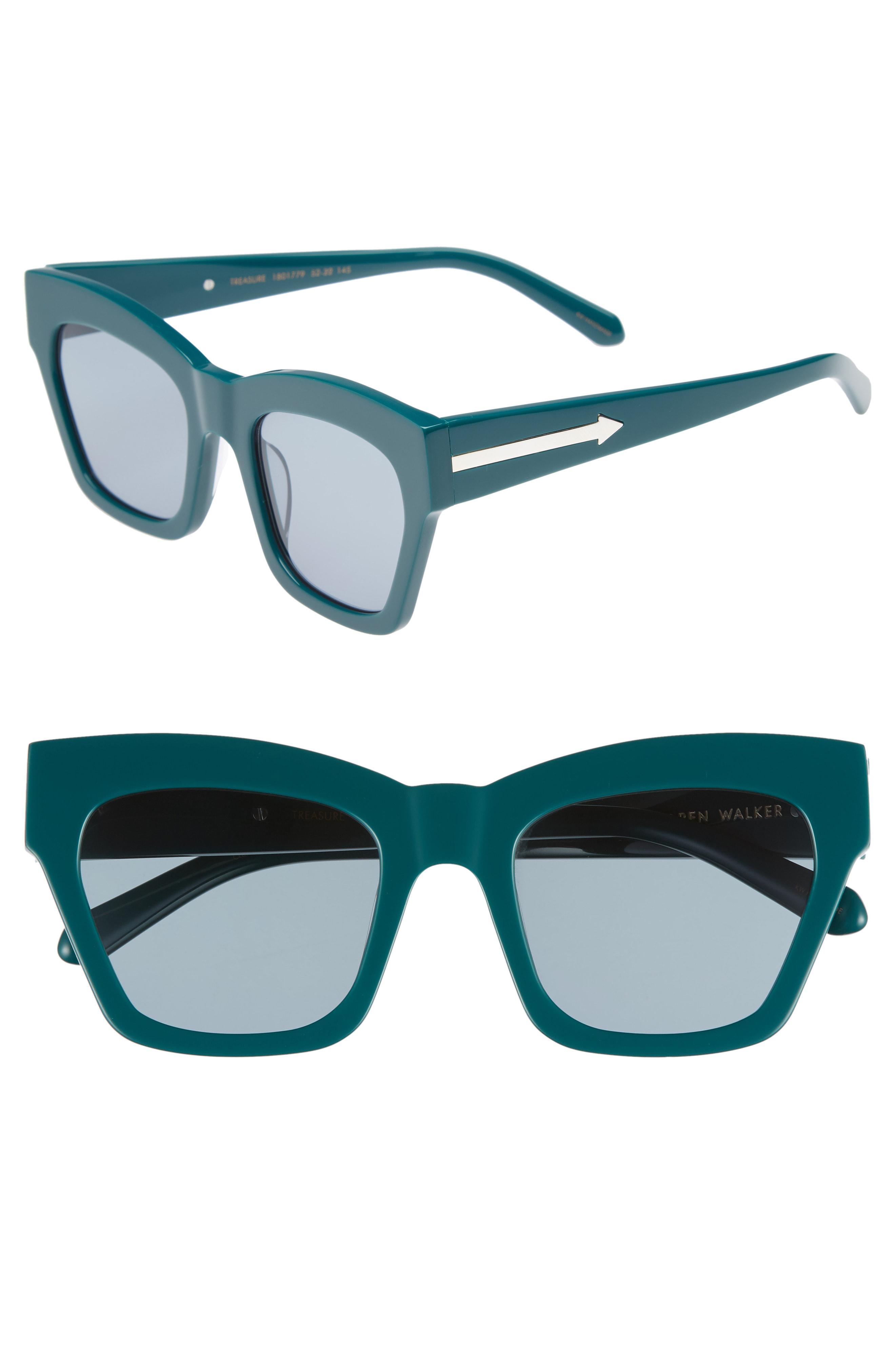 3cbe08429f Lyst - Karen Walker Treasure 52mm Cat Eye Sunglasses - in Blue ...