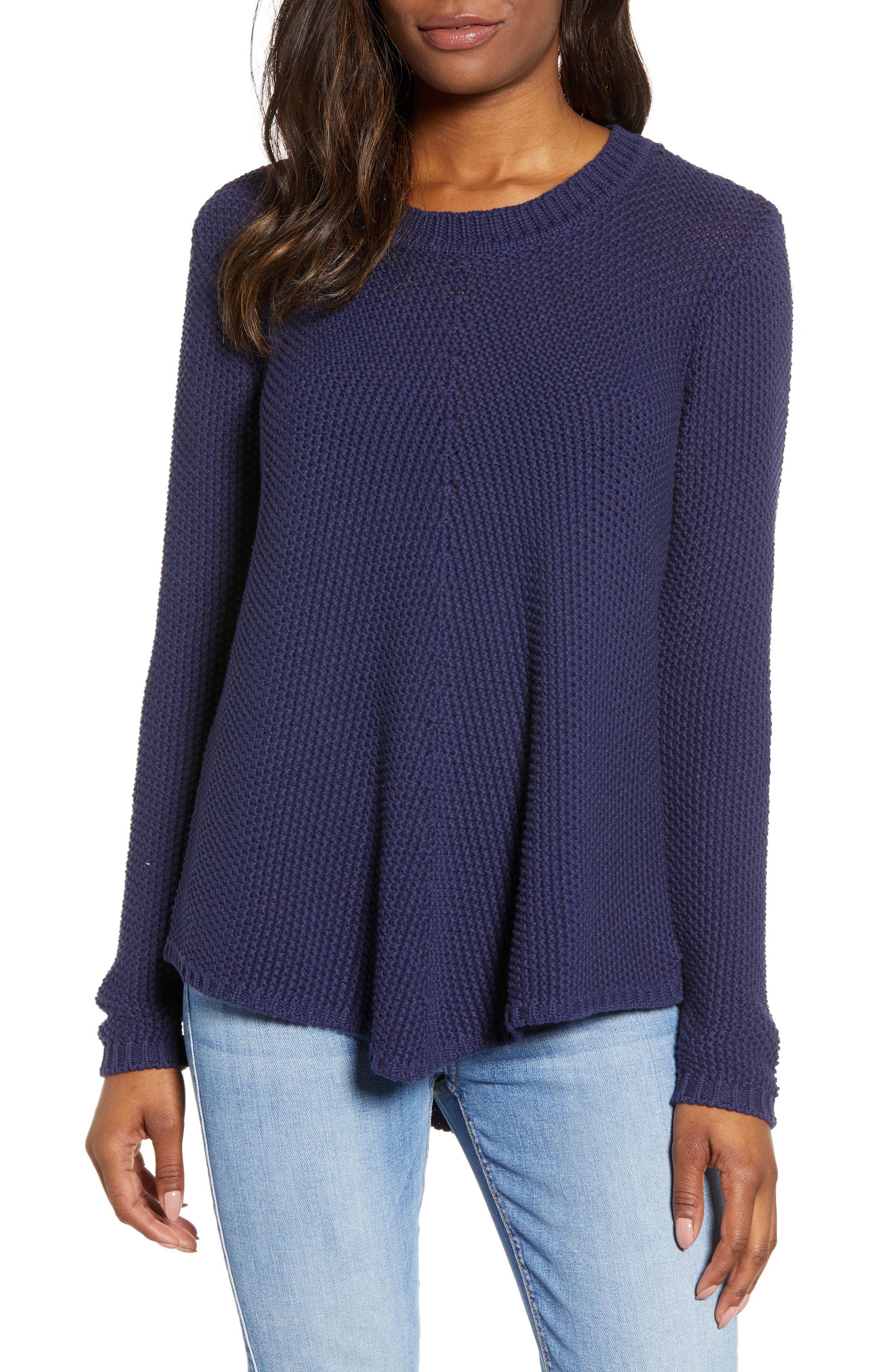839ab1c1f67 Lyst - Caslon Caslon Stitch Stripe Sweater in Blue