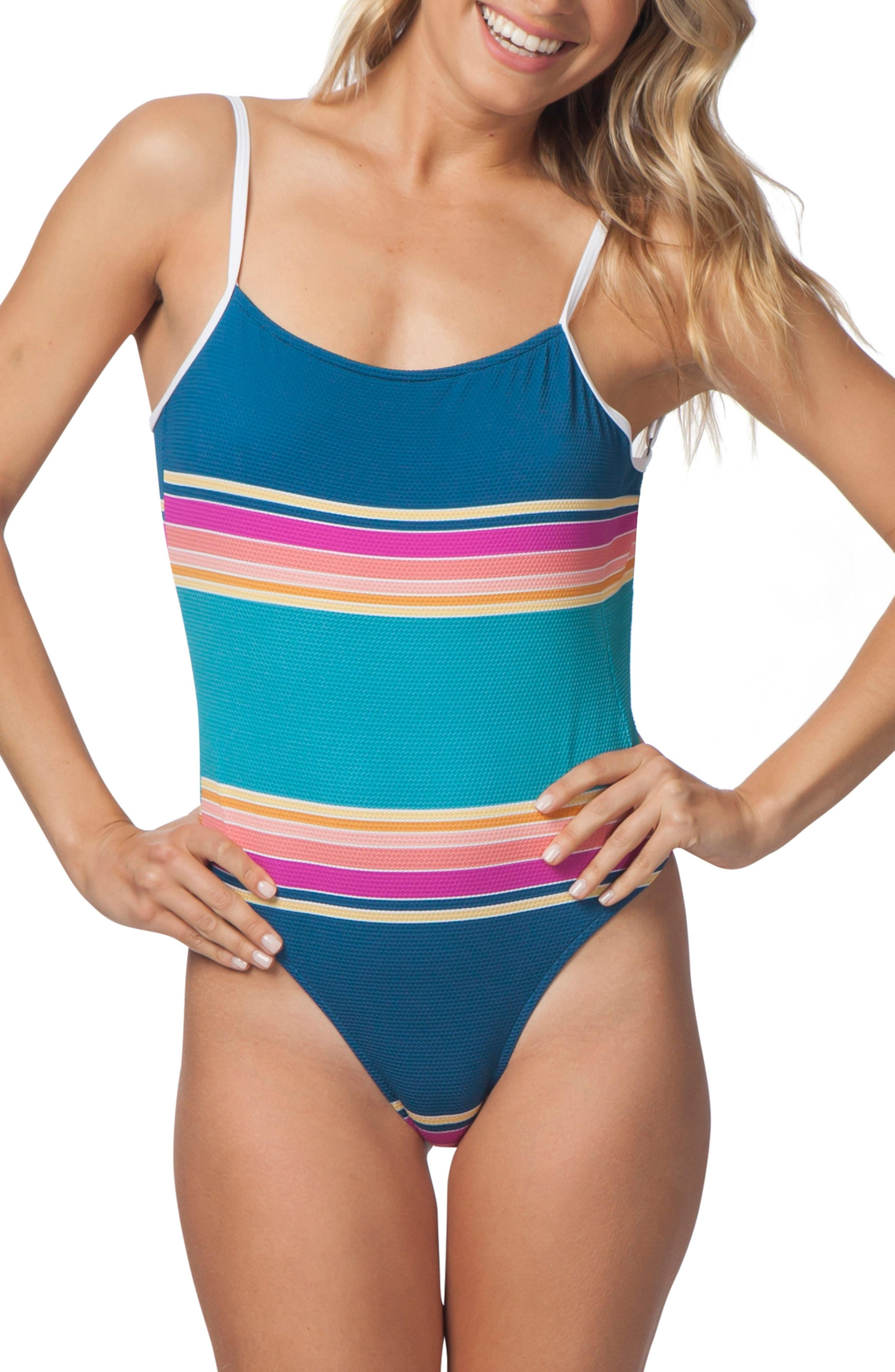 de2d044be7 Lyst - Rip Curl Golden Haze One-piece Swimsuit in Blue