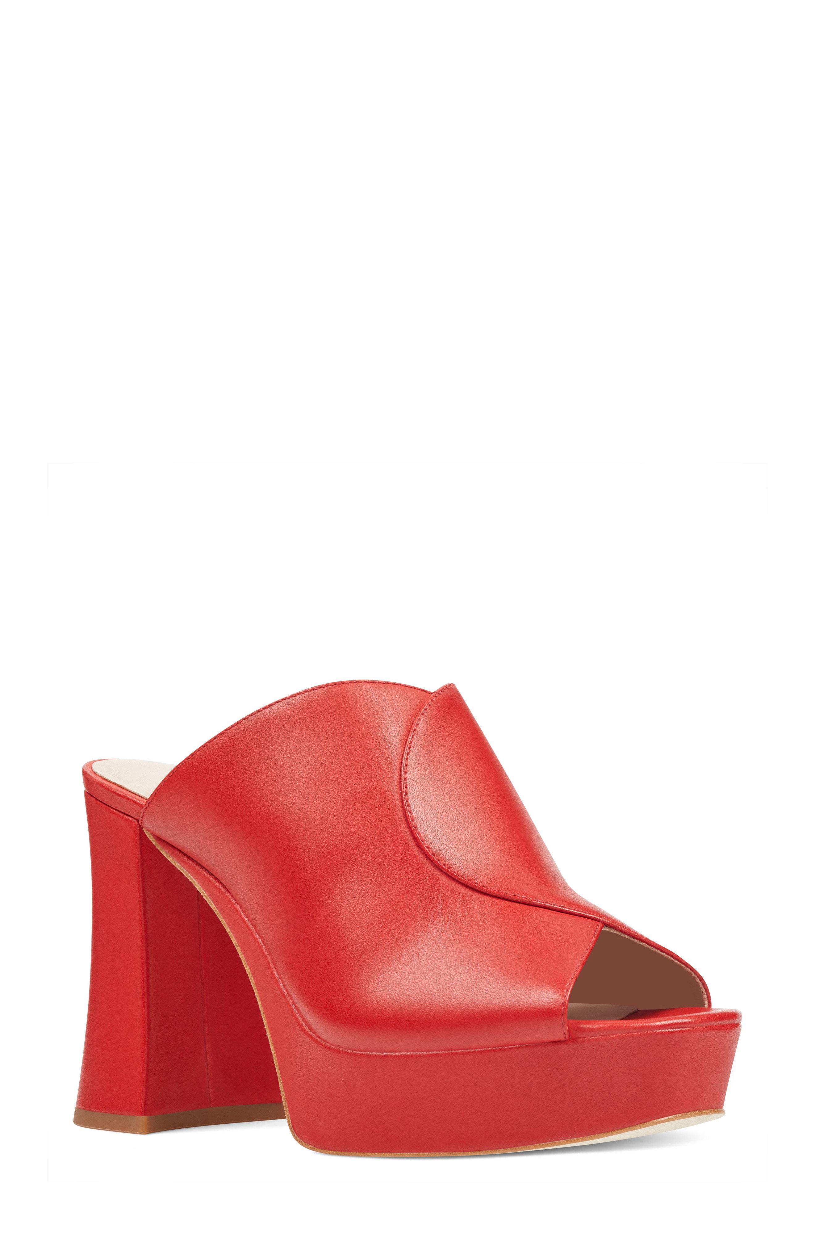c84c8b6089a3 Lyst - Nine West Lisana Platform Slide Sandal in Red