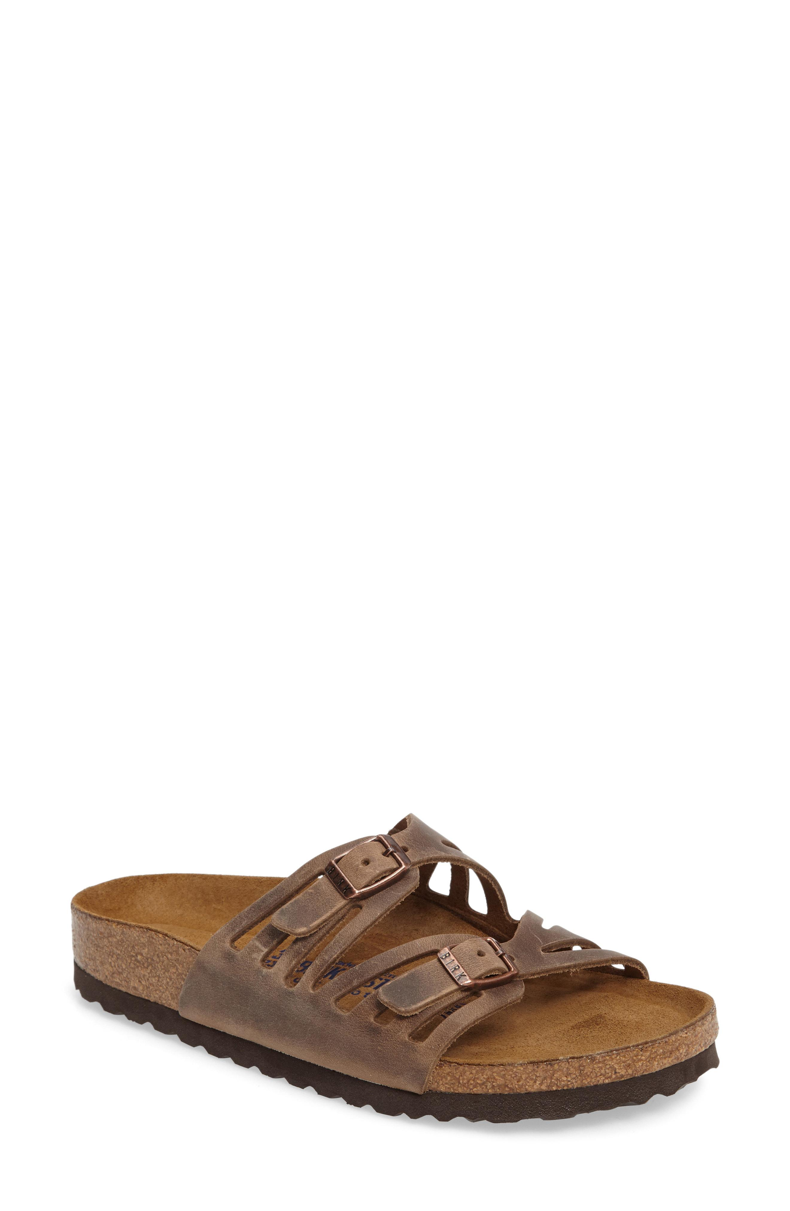 7afd2c4d2e078 Birkenstock. Women s Brown Granada Soft Footbed Oiled Leather Sandal