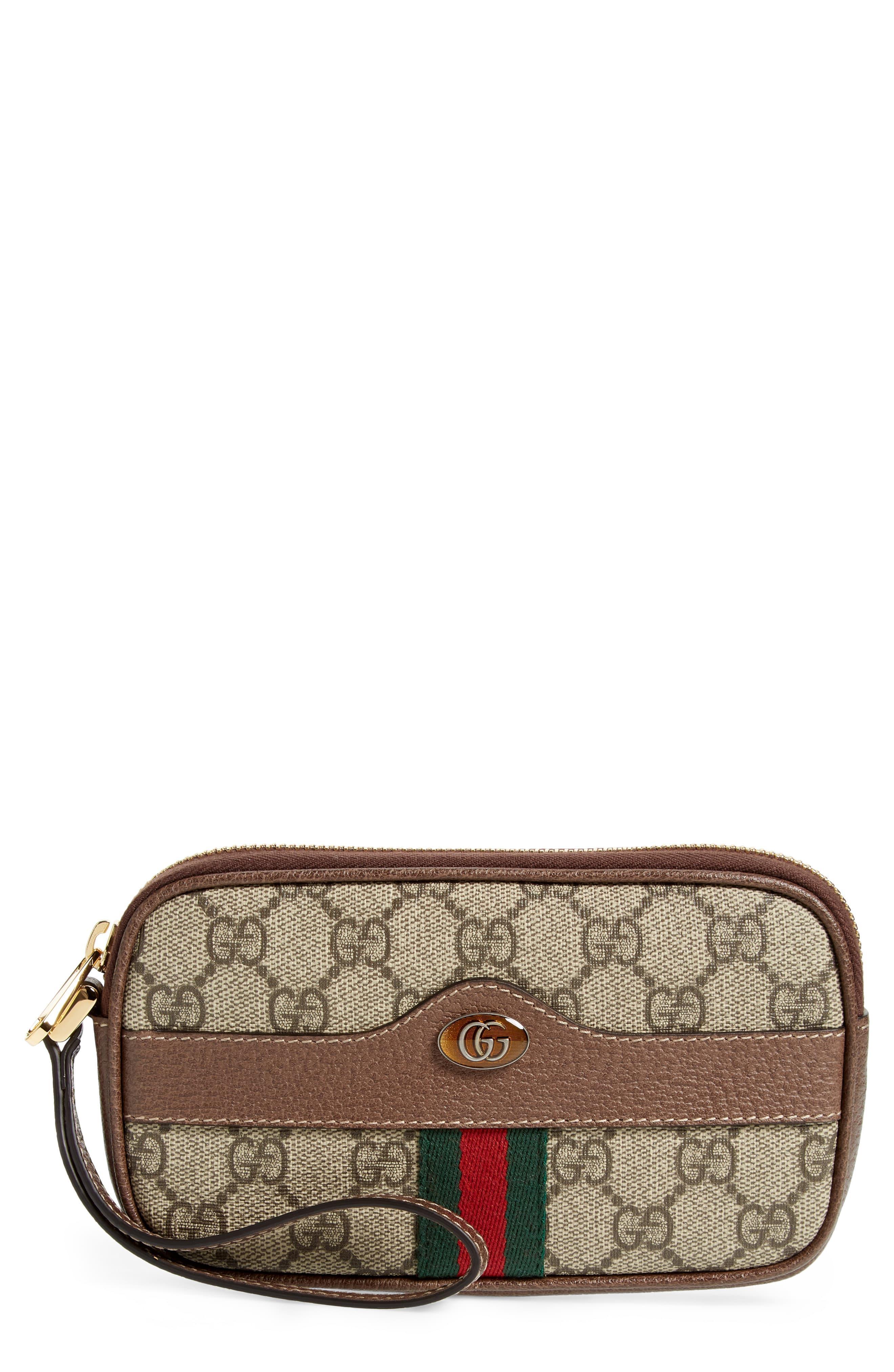 72a4c54090e Gucci - Natural Ophidia Gg Supreme Canvas Wristlet - Lyst. View fullscreen