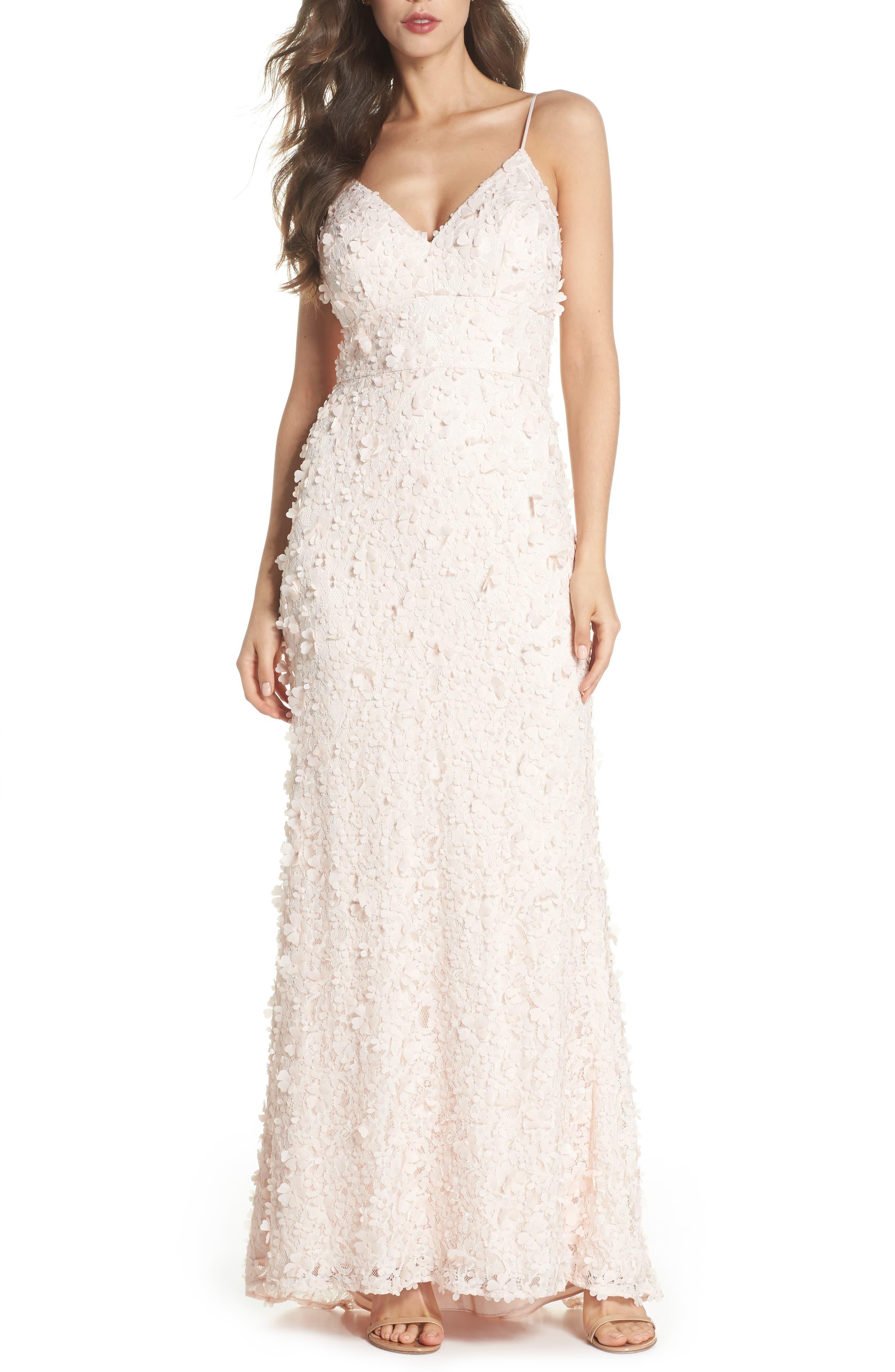 0d16fb33305 Eliza J Floral Appliqué Lace Gown - Save 54% - Lyst