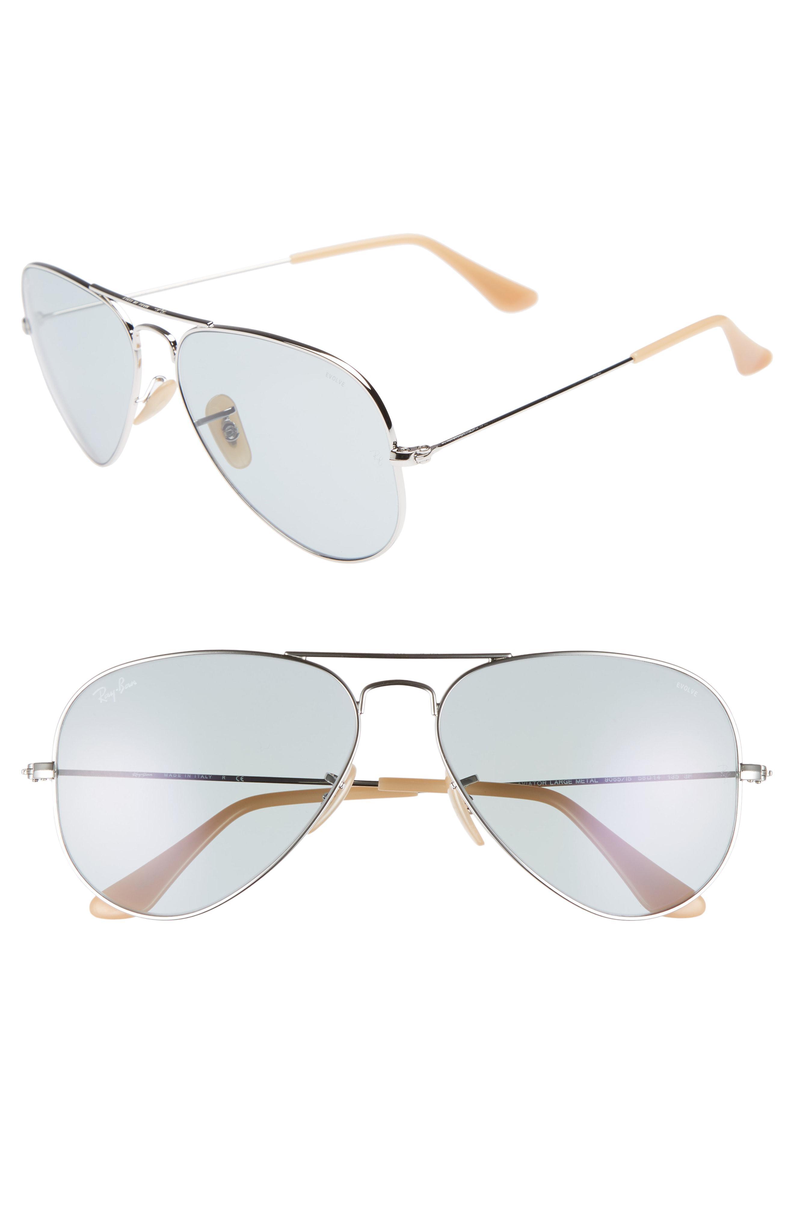 44c7419e947 Ray-Ban Evolve 58mm Polarized Aviator Sunglasses - for Men - Lyst