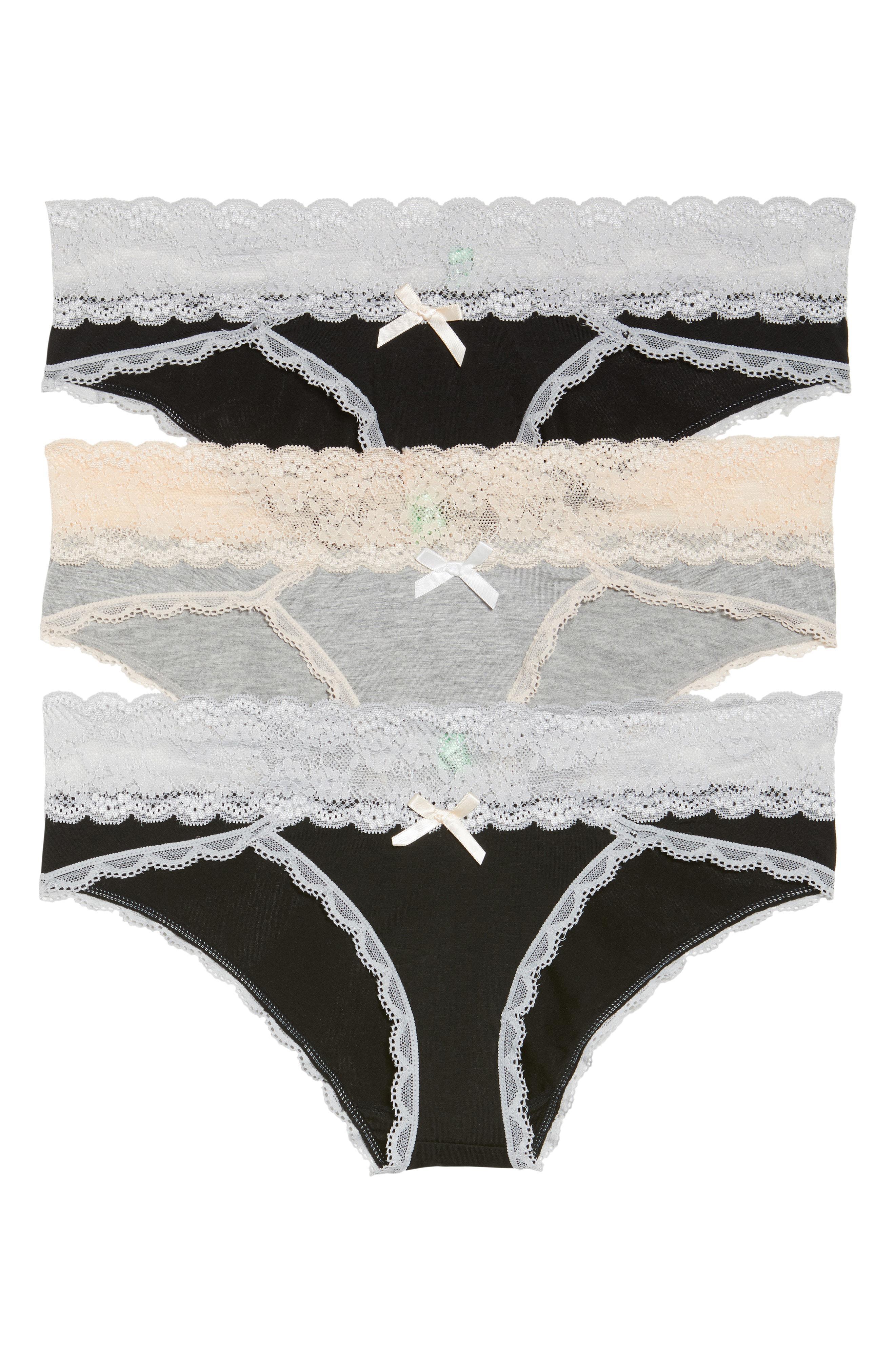 05b91ec96e06 Lyst - Honeydew Intimates 3-pack Hipster Panty, Black in Black