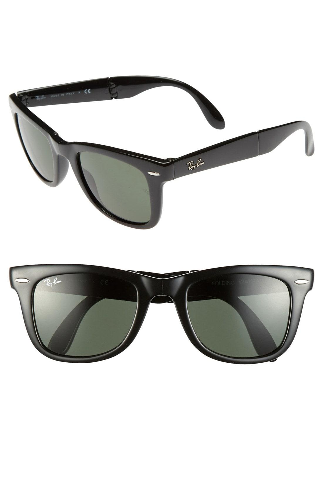 5d4beaac57a Lyst - Ray-Ban Standard 50mm Folding Wayfarer Sunglasses in Black
