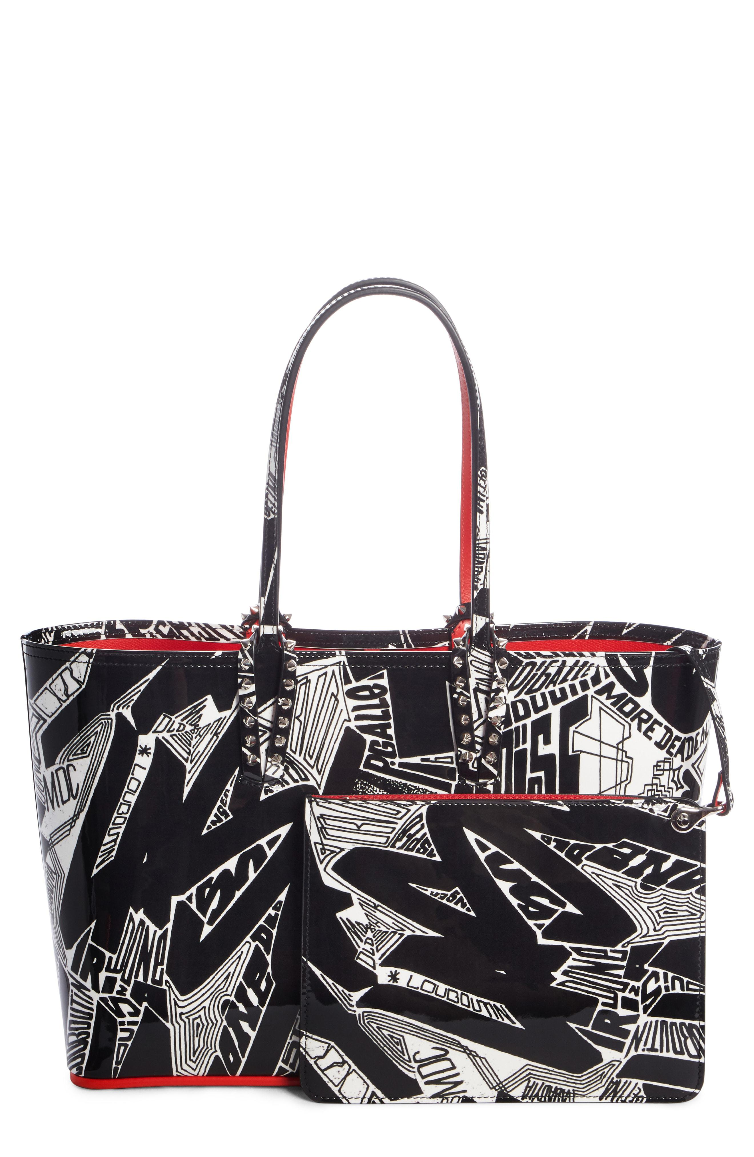 Christian Louboutin. Women s Small Cabata Nicograf Patent Leather Tote - 278df06fbecfa