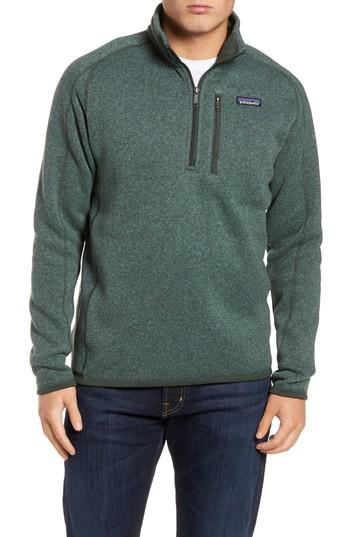 Lyst Patagonia Better Sweater Quarter Zip Pullover In Green For Men