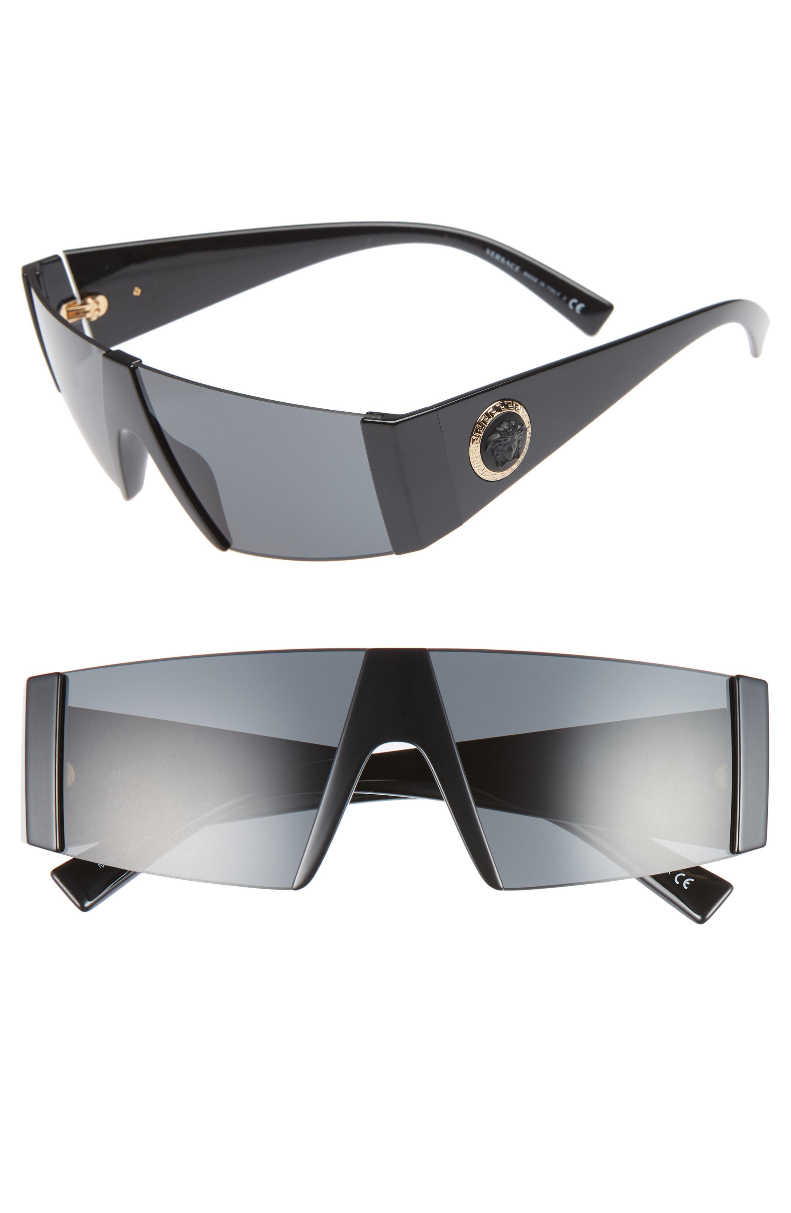 57aaa4b435 Lyst - Versace Medusa 56mm Shield Sunglasses in Black