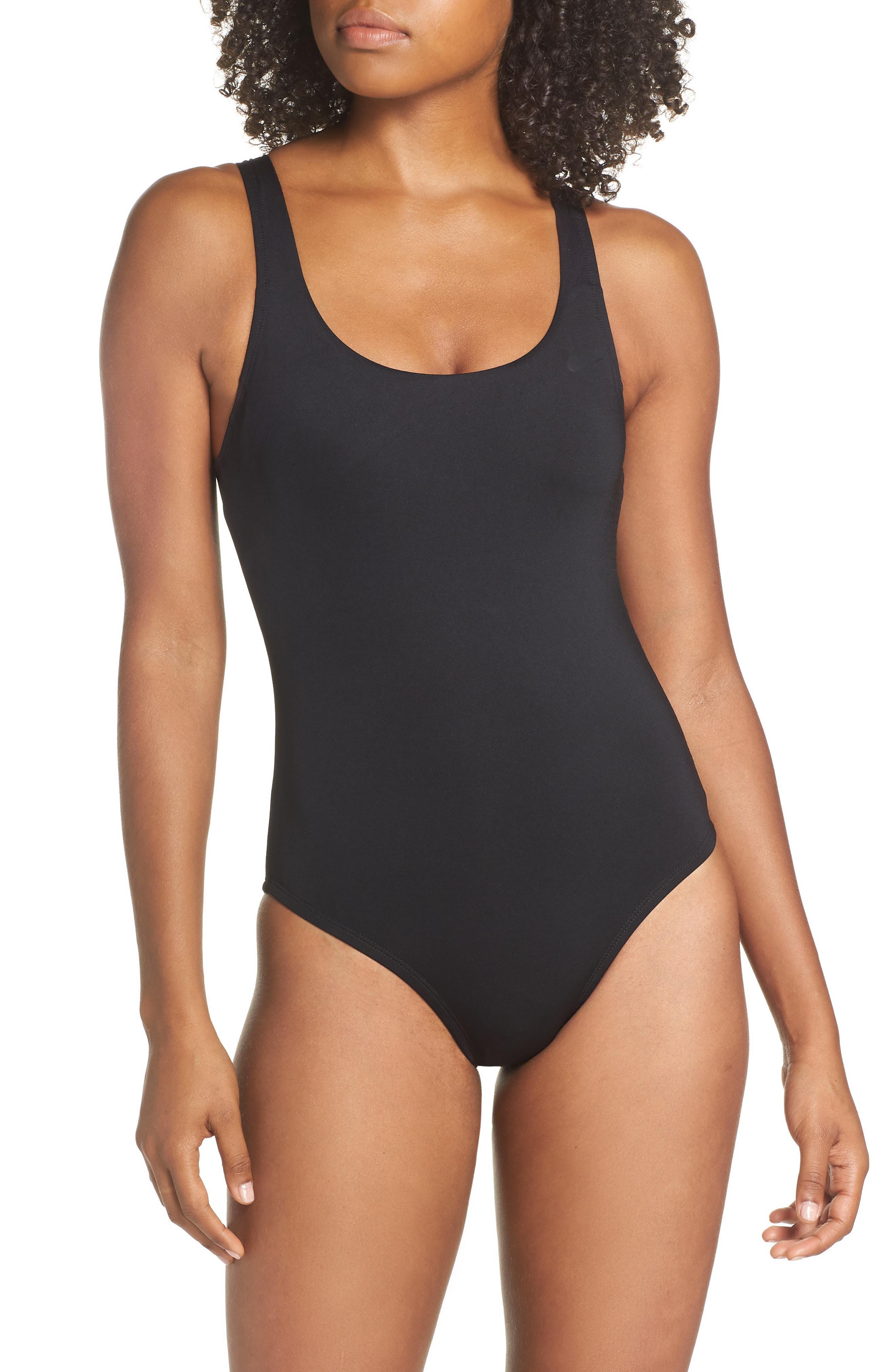 5e1fc0388ec Lyst - Nike U-back One-piece Swimsuit in Black