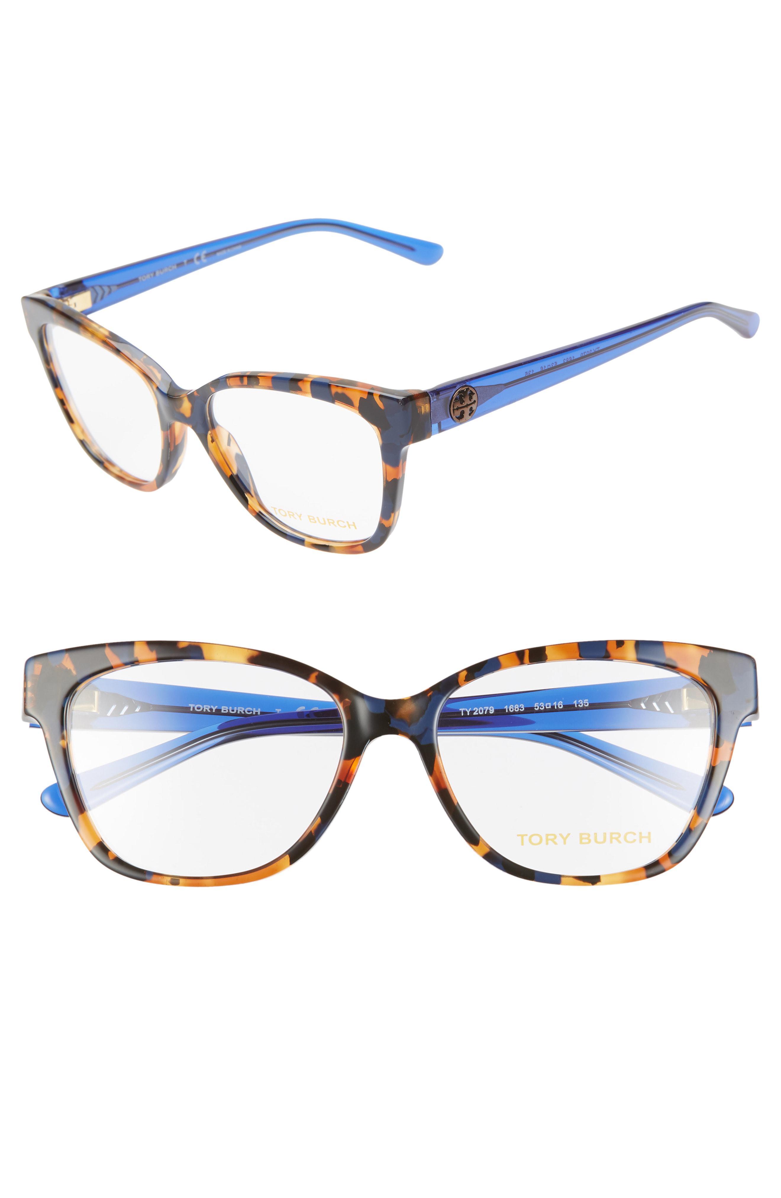 a390892c77 Tory Burch - Blue 53mm Optical Glasses - Lyst. View fullscreen