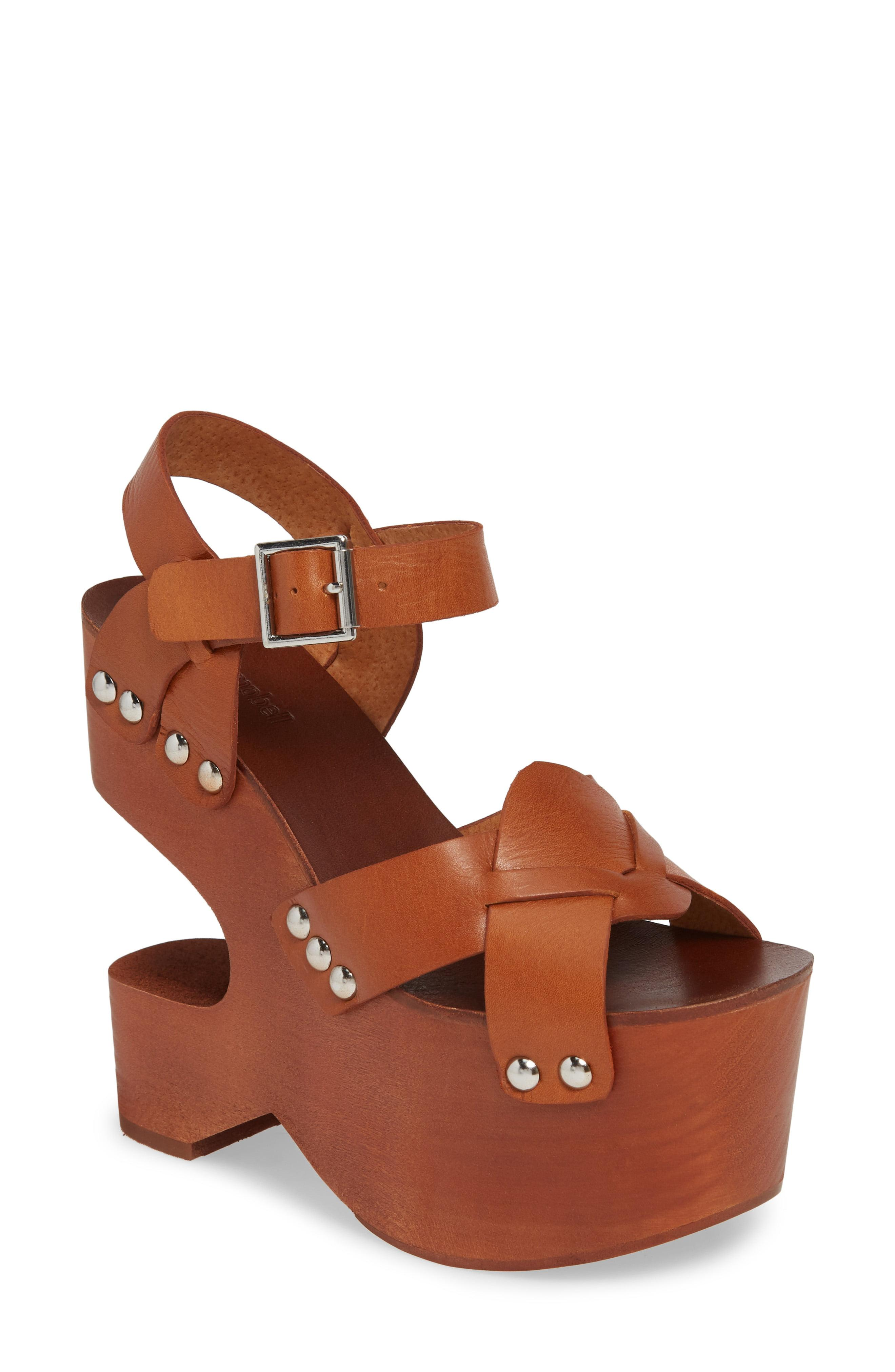 399d044e6b8e Lyst - Jeffrey Campbell Get Down Platform Sandal in Brown