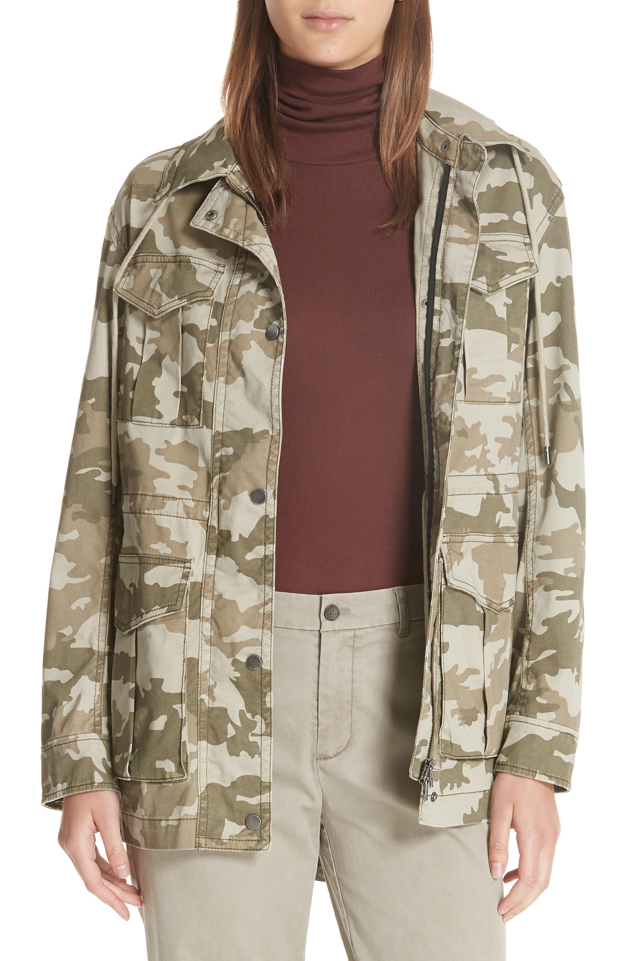 1f5f584a0796c Lyst - ATM Camo Stretch Cotton Field Jacket