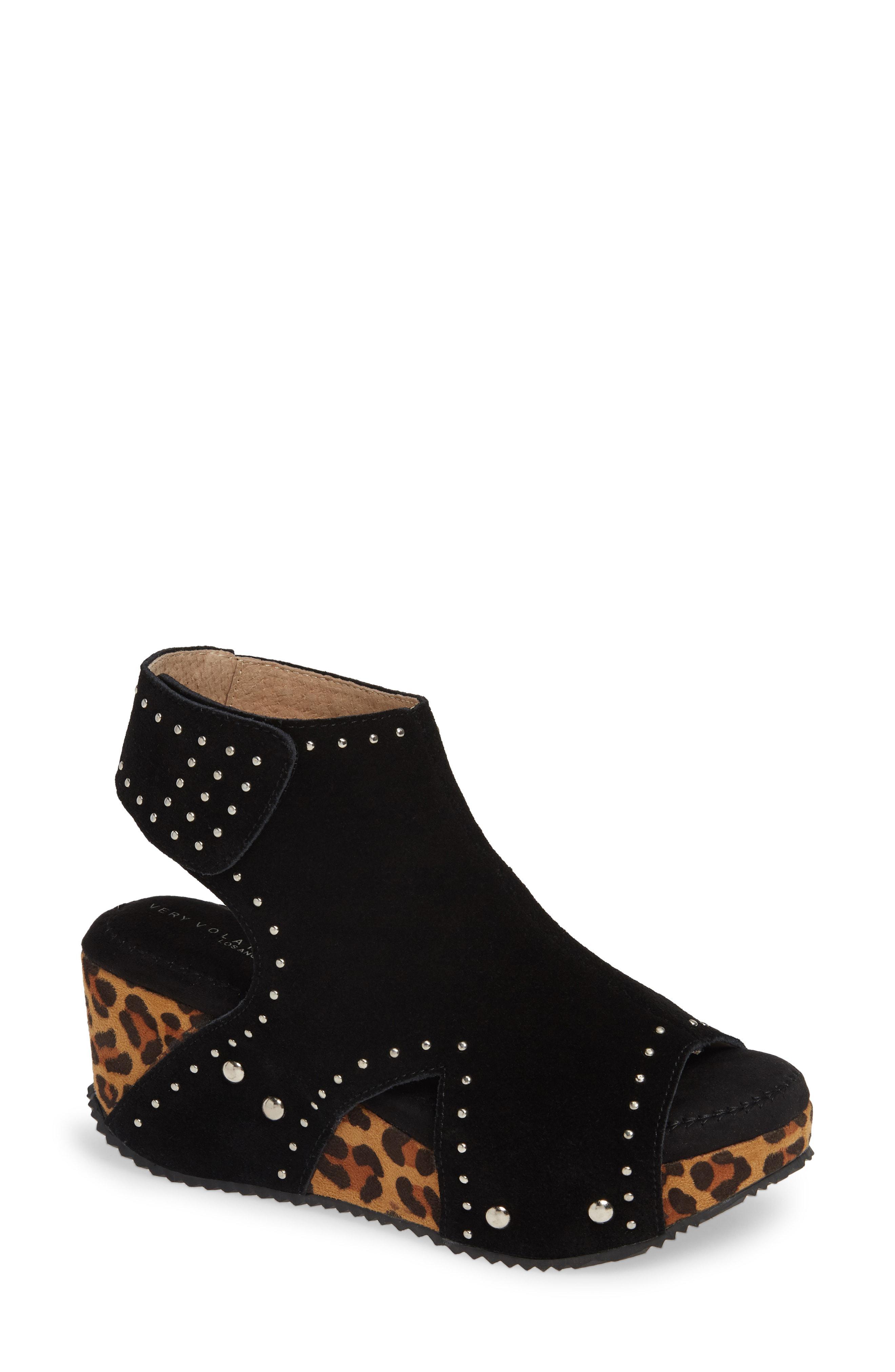 5219c7dff86 Lyst - Very Volatile Betsy Platform Wedge Sandal in Black