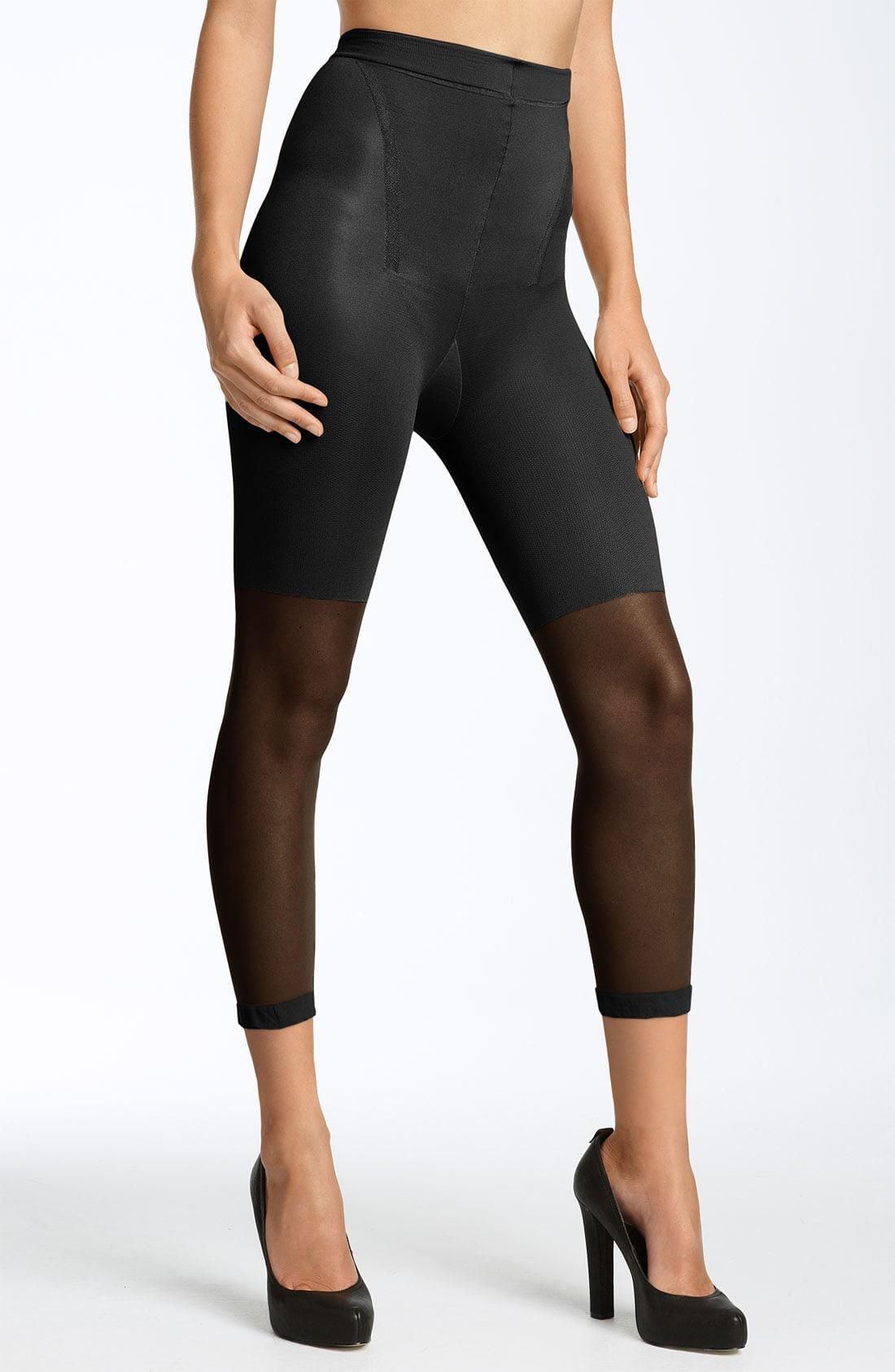 3aba311e70a Lyst - Spanx Spanx Power Capri Control Top Footless Pantyhose in Black