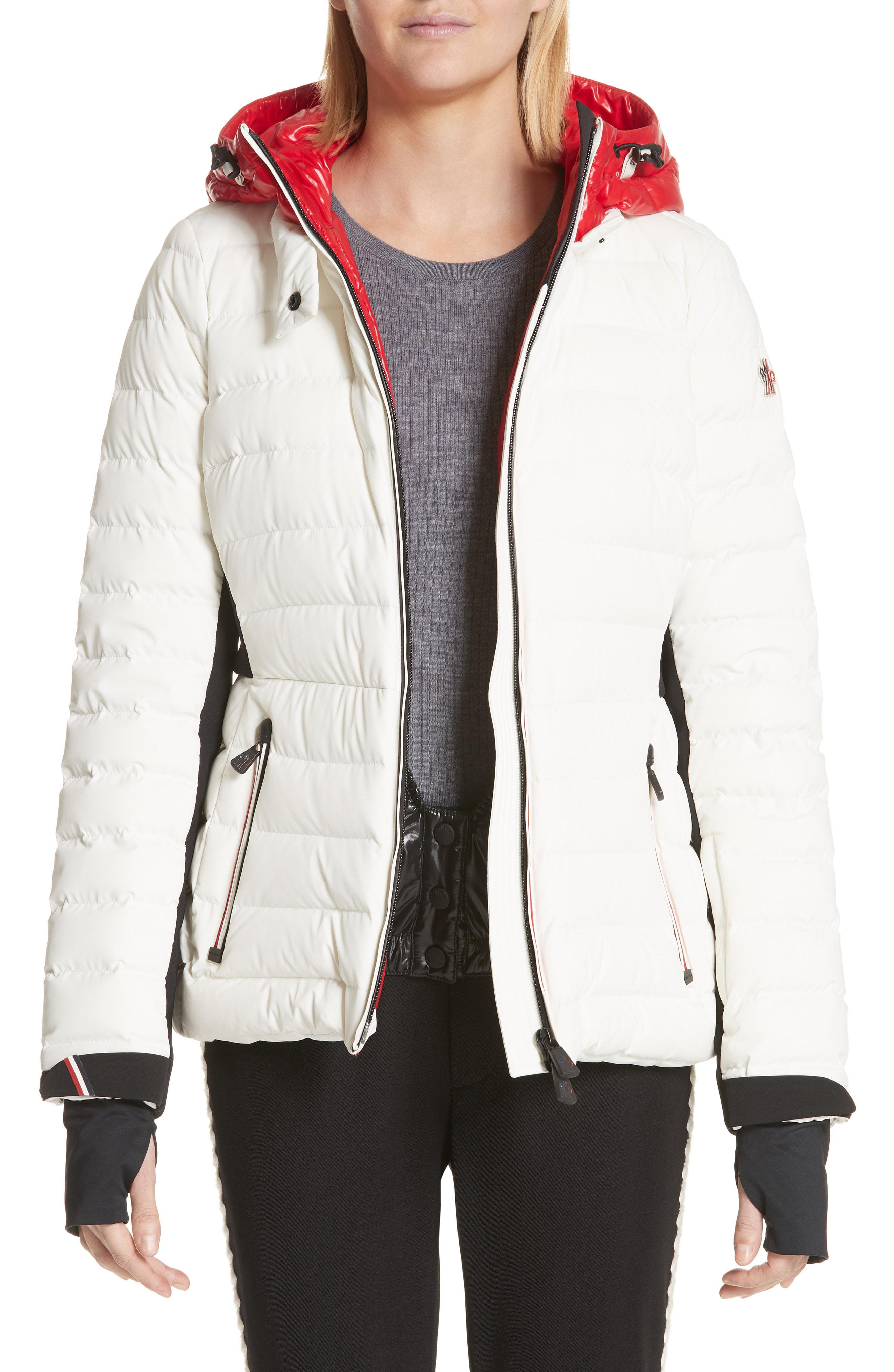 1c7eff132 Lyst - Moncler Bruche French Flag Down Hooded Puffer Coat in White