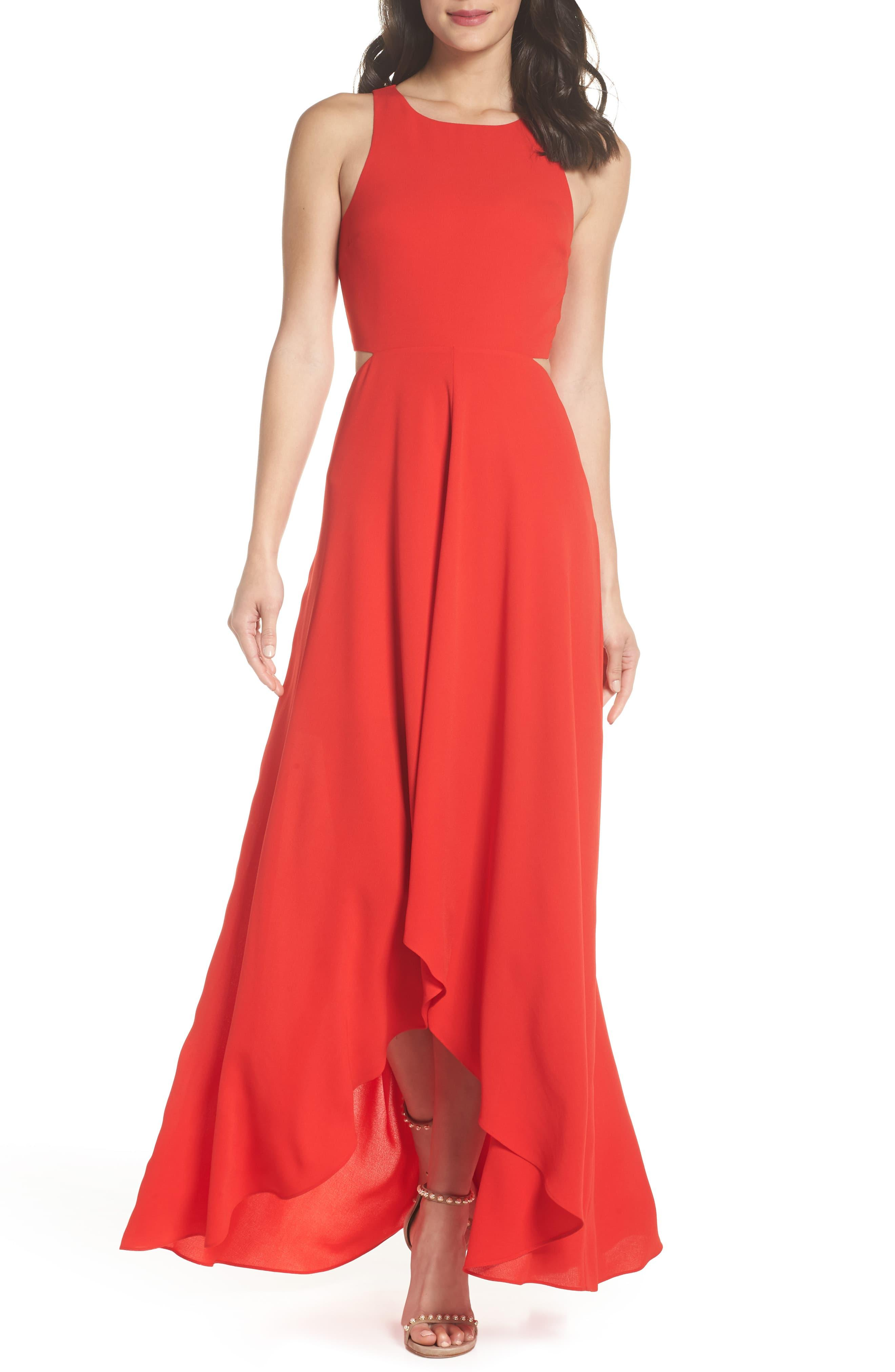 d54265446ee Ali & Jay Cutout Maxi Dress in Red - Save 19% - Lyst