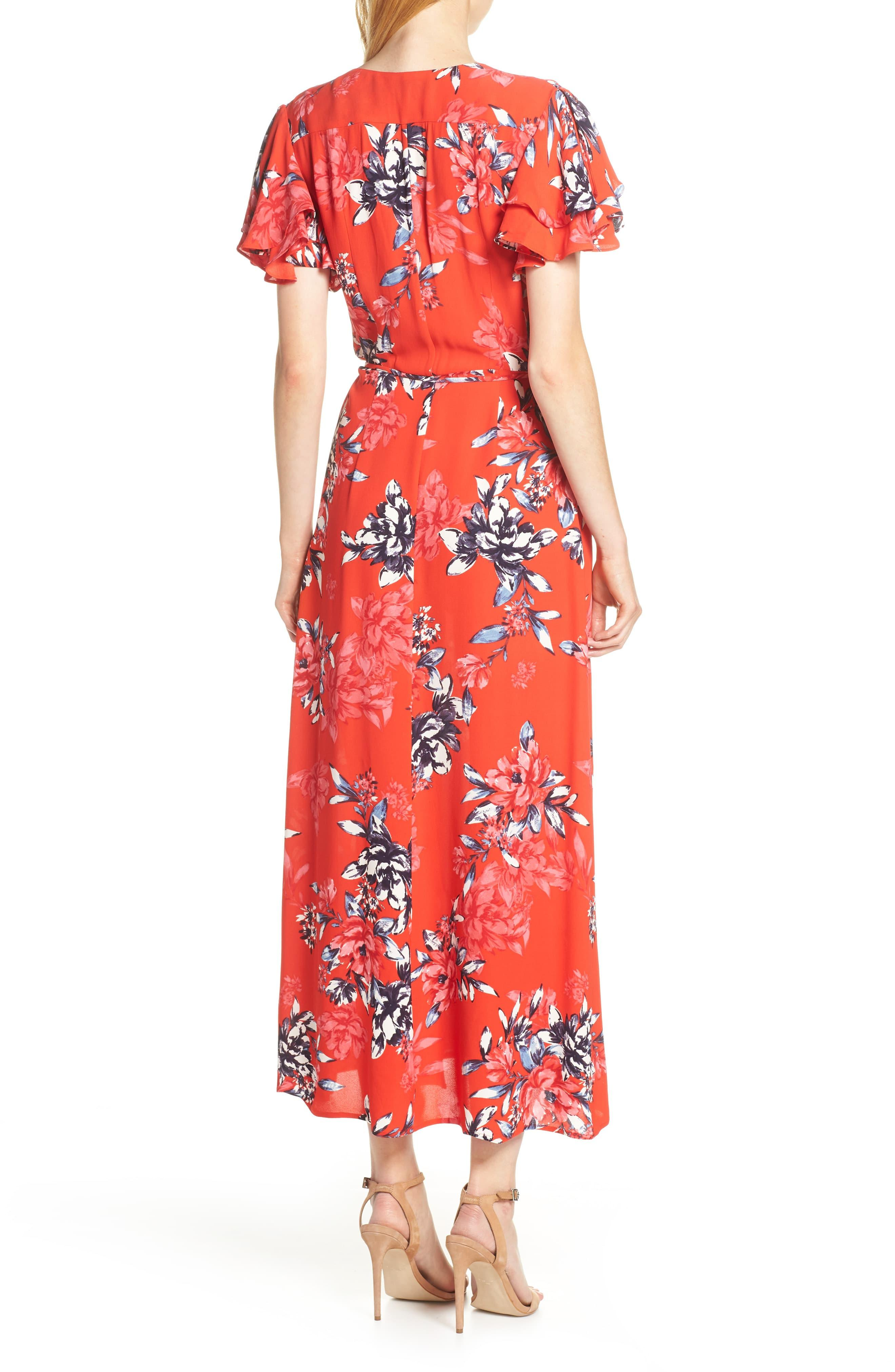 3796004c25b French Connection - Red Colletta Faux Wrap Maxi Dress - Lyst. View  fullscreen