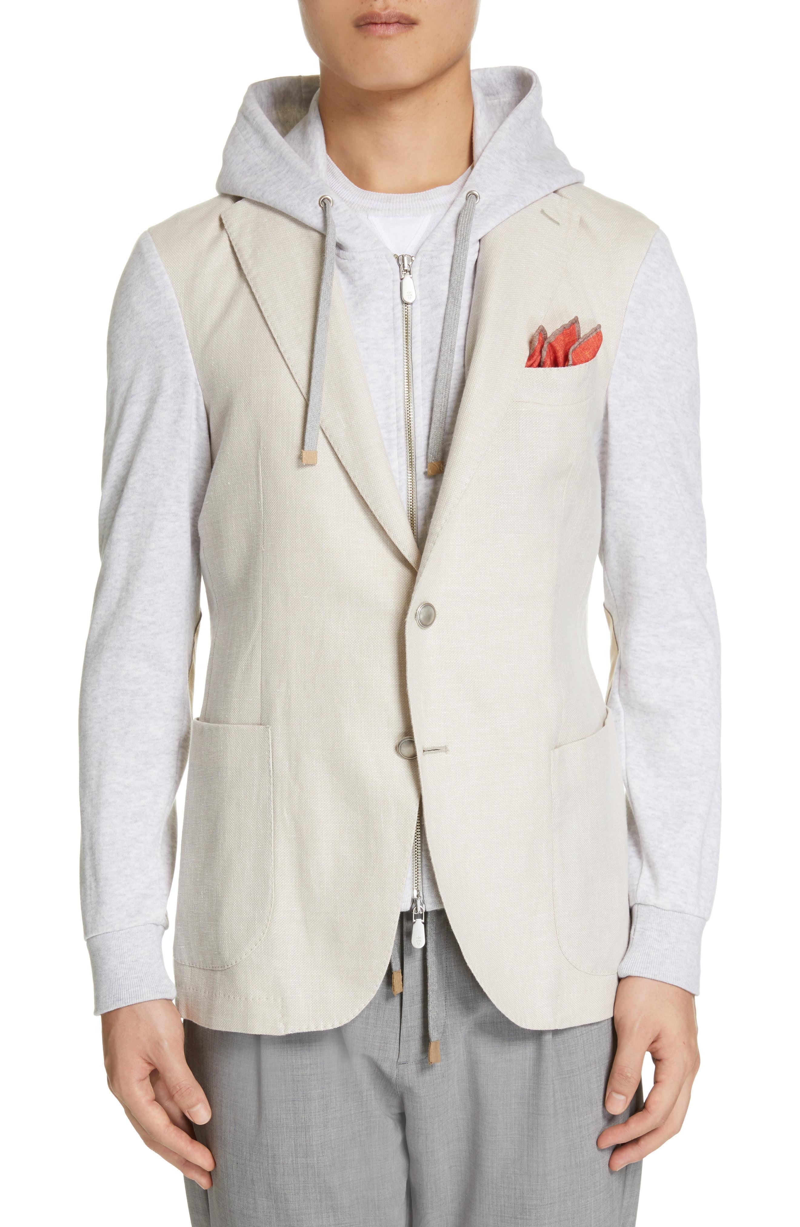 96dc0e61b Lyst - Eleventy Trim Fit Mixed Media Hooded Sport Coat for Men