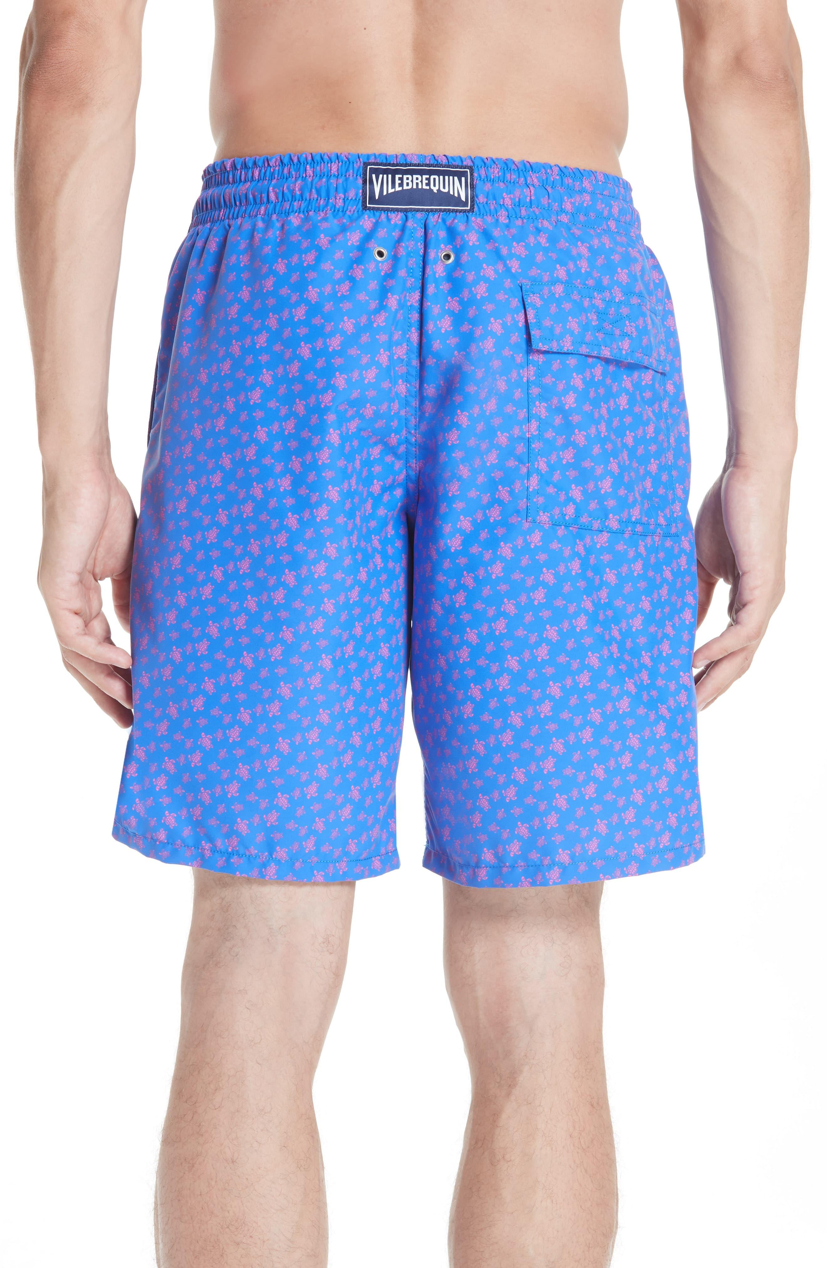 8c1d31b8c7a5a Vilebrequin - Blue Micro Ronde Turtle Print Swim Trunks for Men - Lyst.  View fullscreen