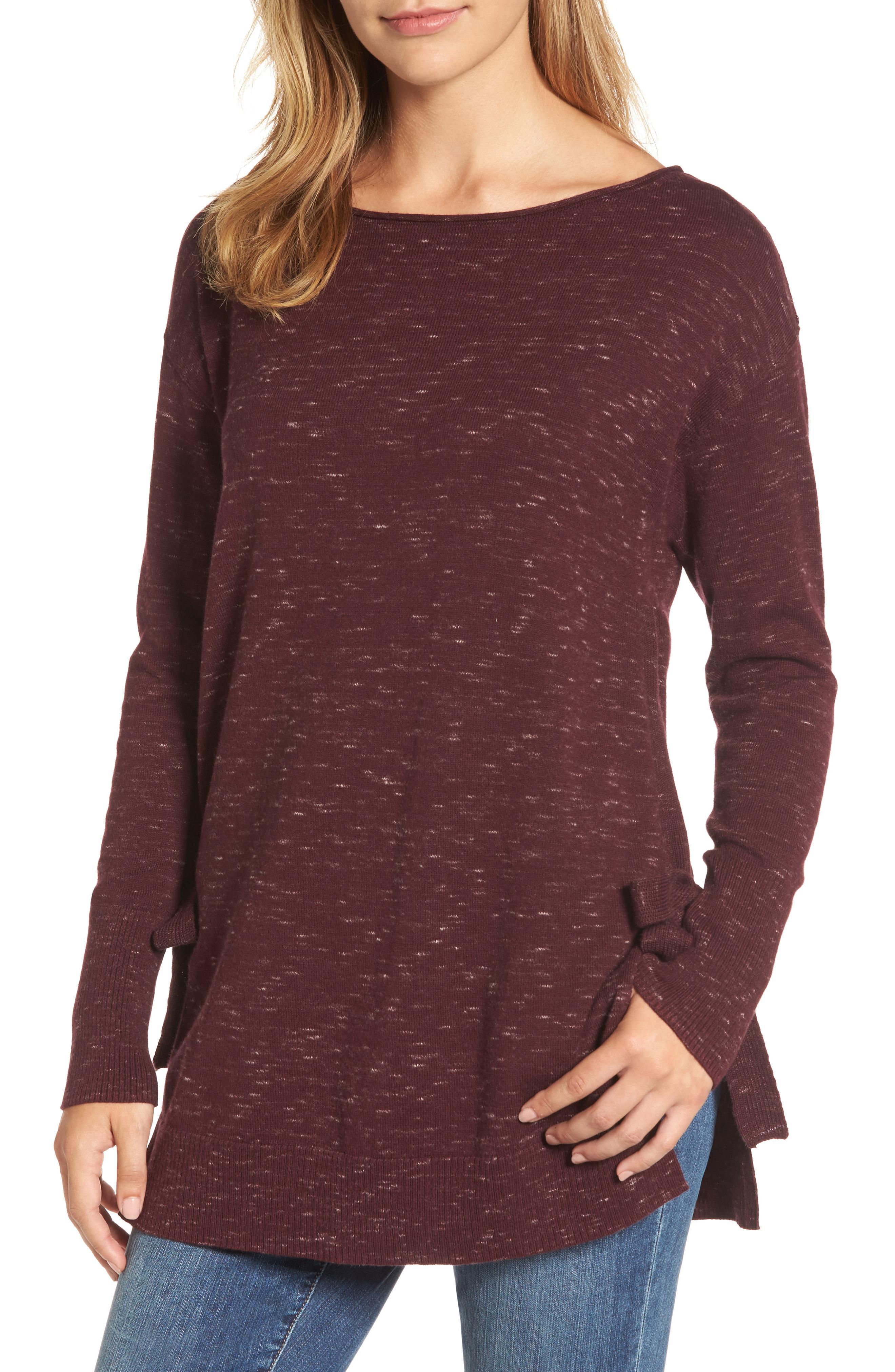 511425182296d Lyst - Caslon Caslon Side Tie Tunic Top in Purple