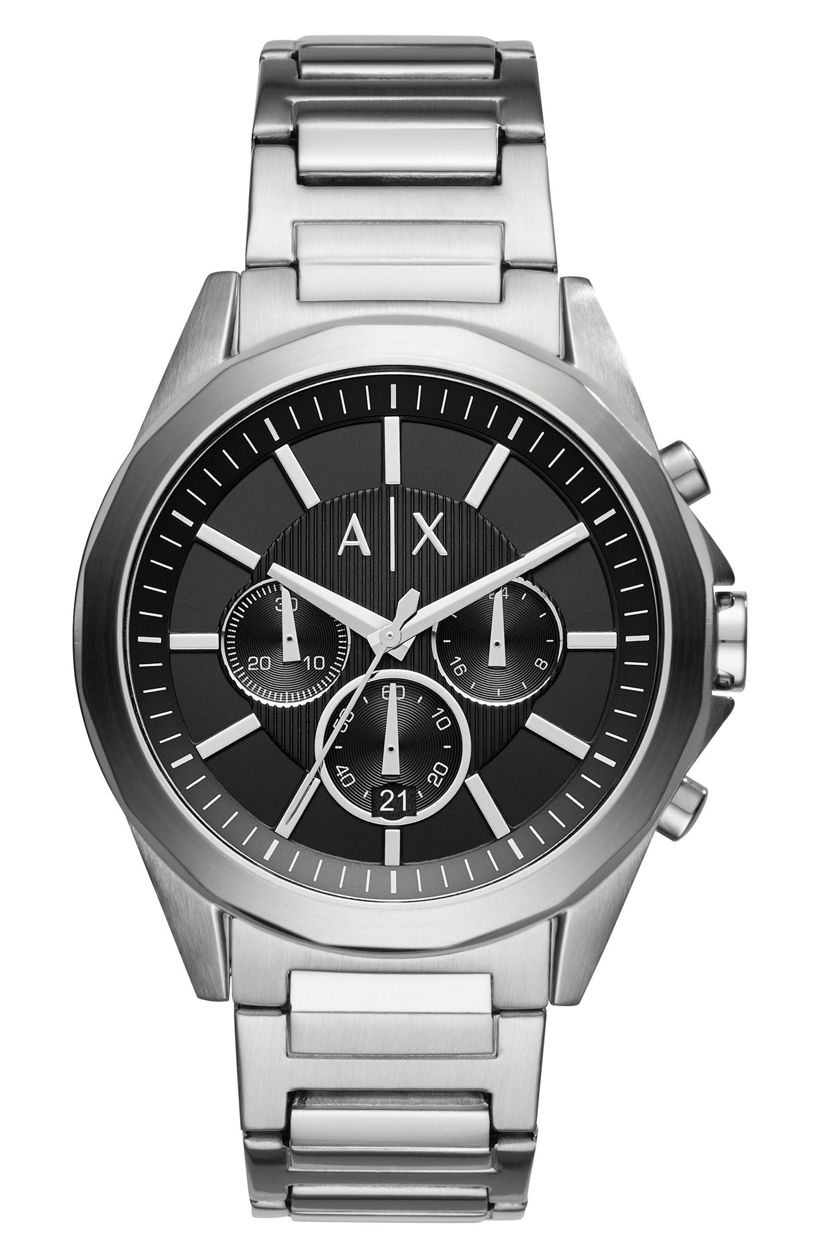 470f6f0048ac Lyst - Armani Exchange Chronograph Bracelet Watch in Metallic for ...