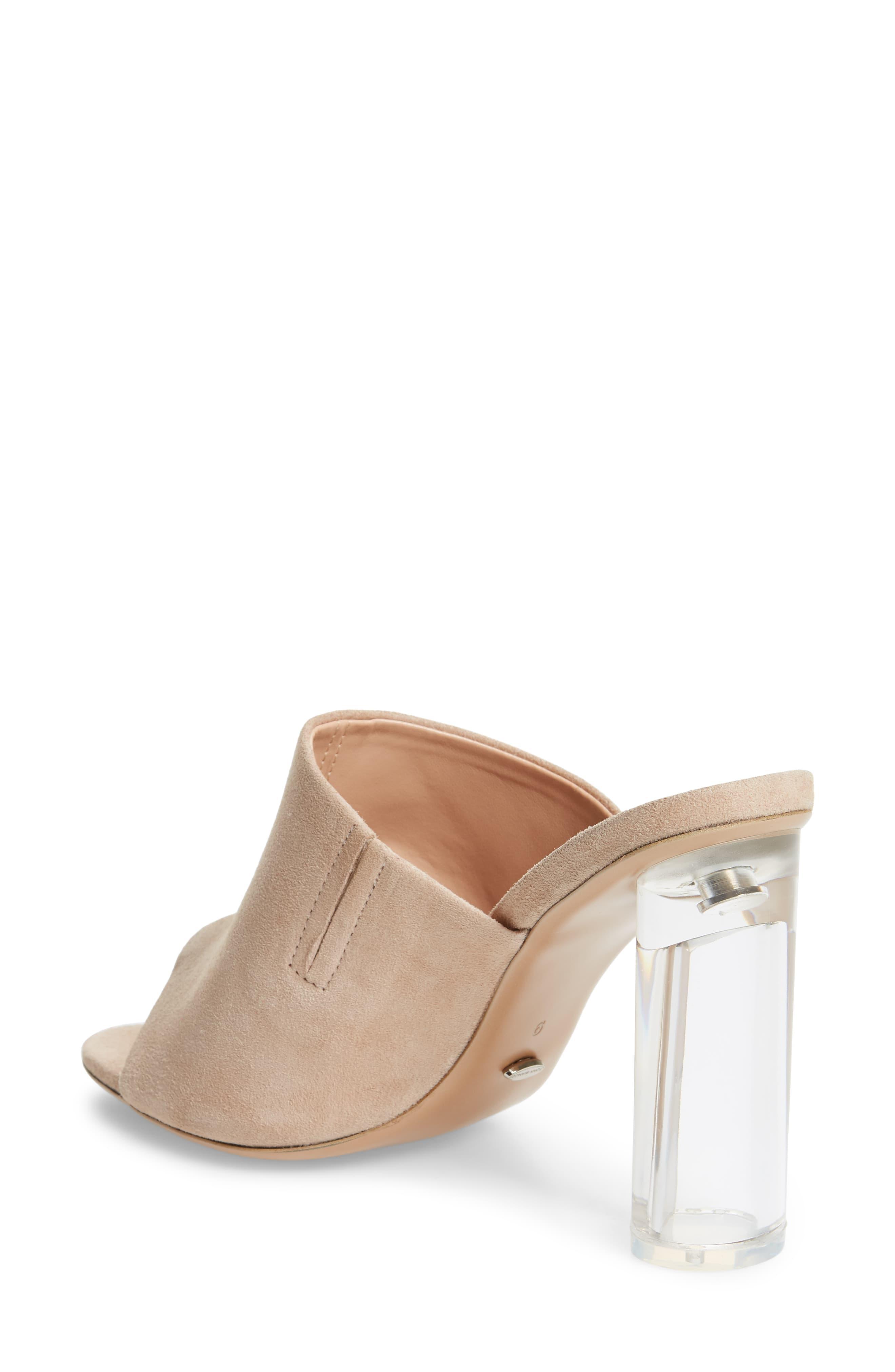 372543d00a Tony Bianco Takoda Clear Heel Slide Sandal - Lyst