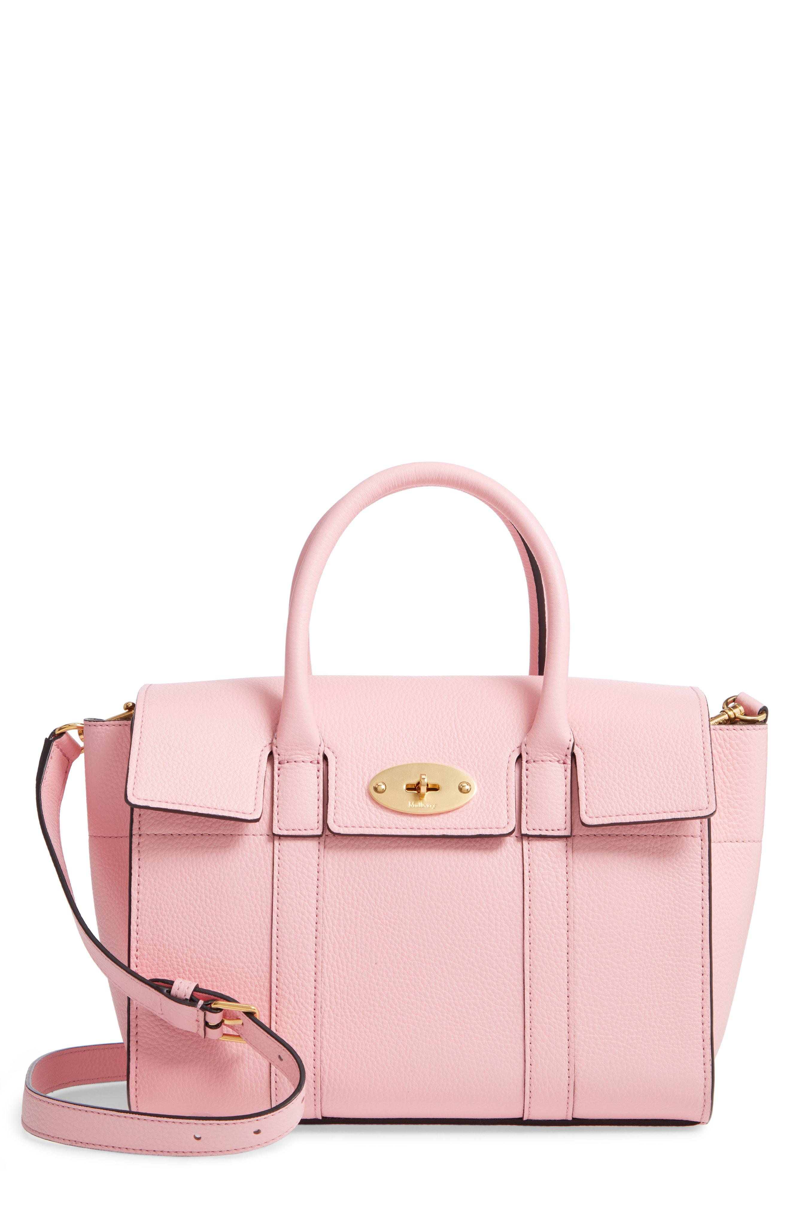 8b9ea2a10f Lyst - Mulberry Small Bayswater Leather Satchel in Pink