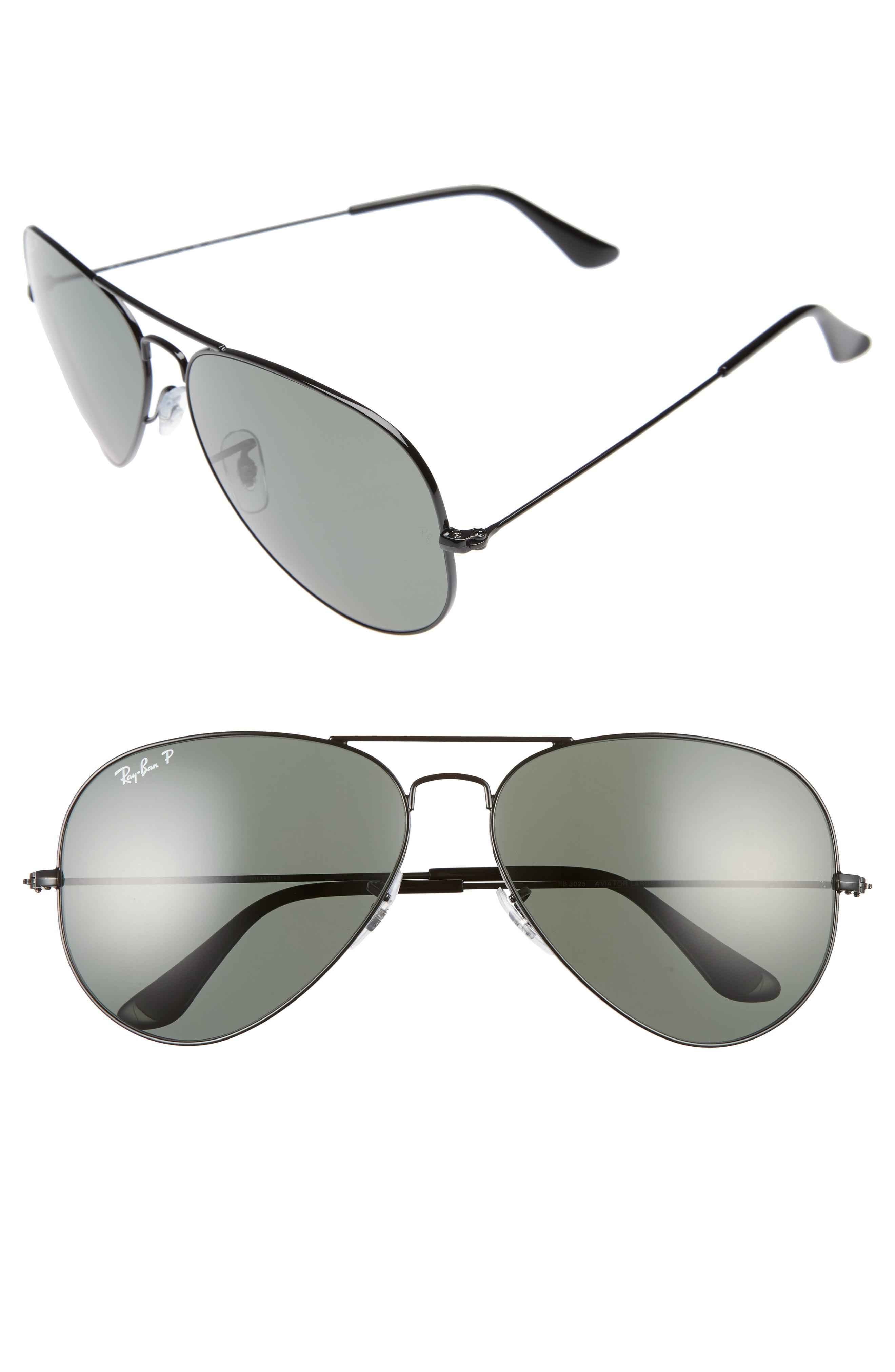5964a648ae4ced Ray-Ban. Men s Black Icons 62mm Polarized Aviator Sunglasses.  203 From  Nordstrom. Free shipping ...