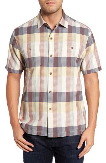 Tommy bahama tamuda bay plaid silk blend camp shirt for for Tommy bahama florida shirt