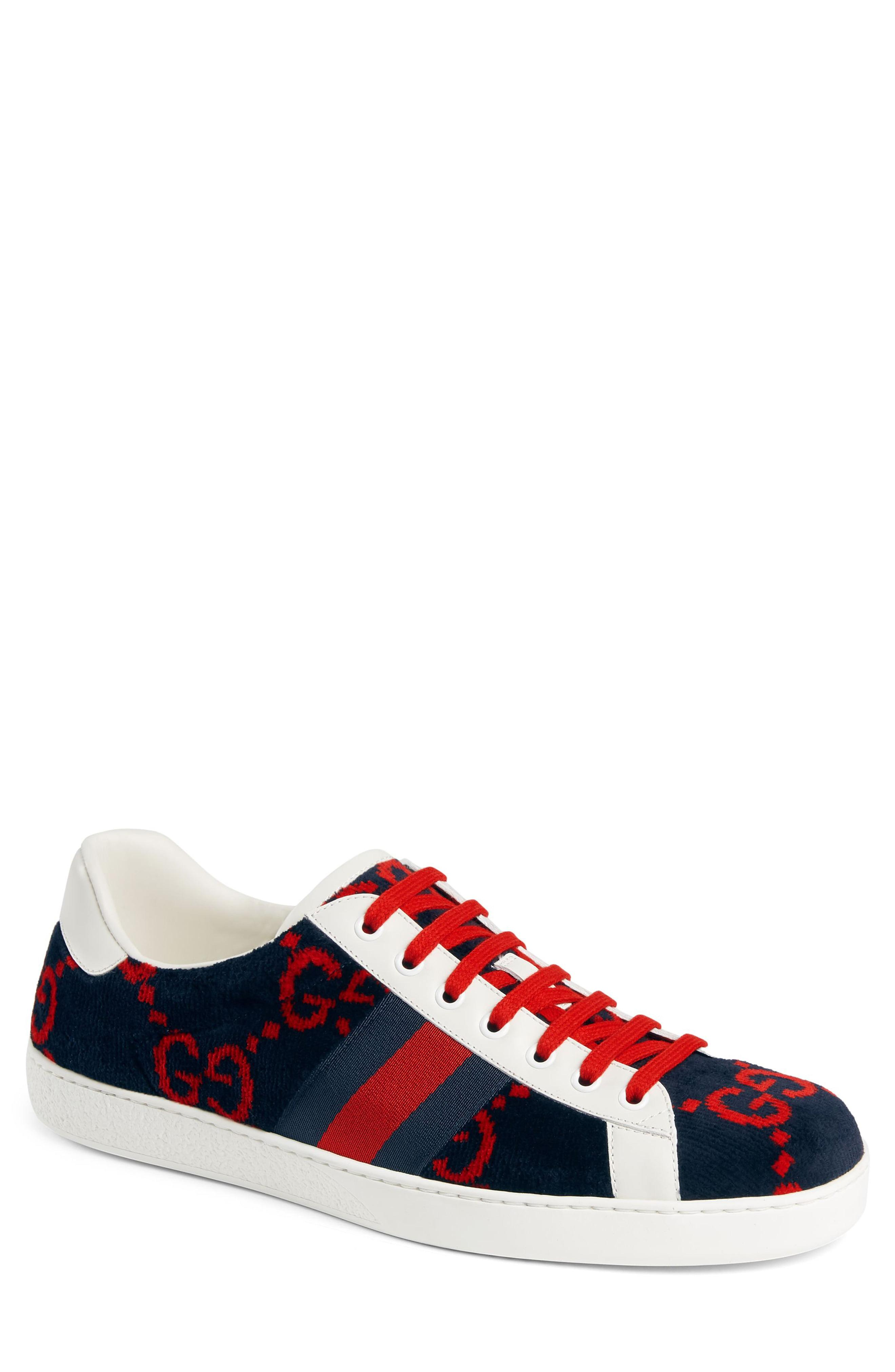 dd4f11439f8 Lyst - Gucci New Ace Gg Logo Sneaker for Men