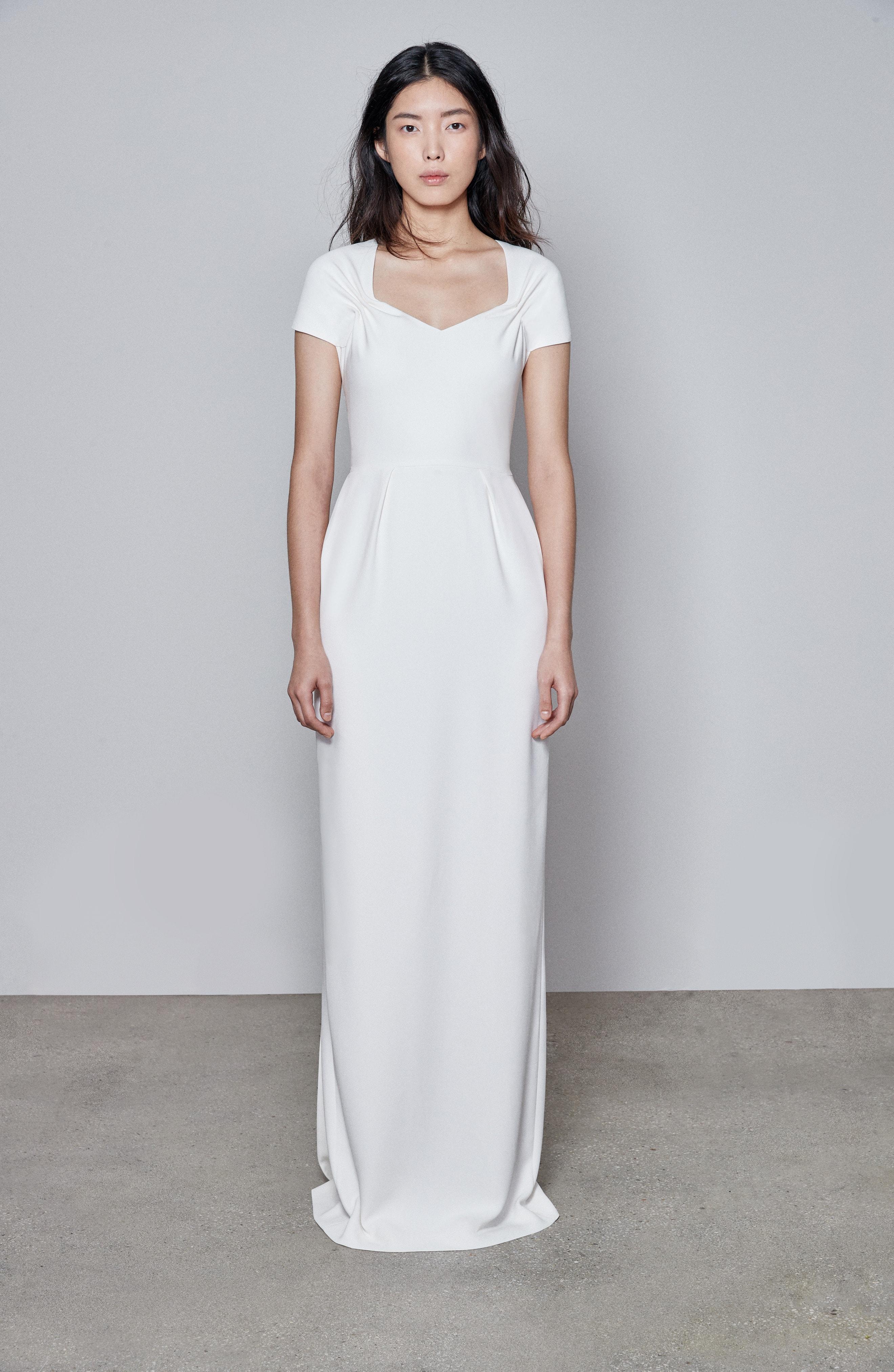 1836d9c2c4d Lyst - Stella McCartney F18 Rose Cap Sleeve Wedding Dress in White