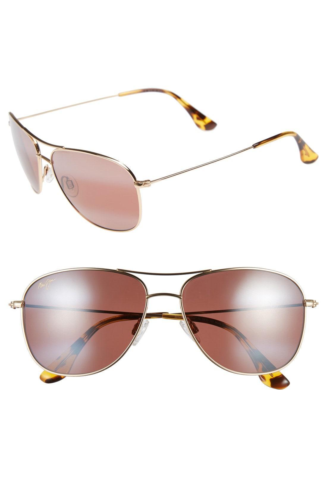 f4f5441b400 Maui Jim. Women s Metallic Cliff House 59mm Polarizedplus2 Metal Aviator  Sunglasses