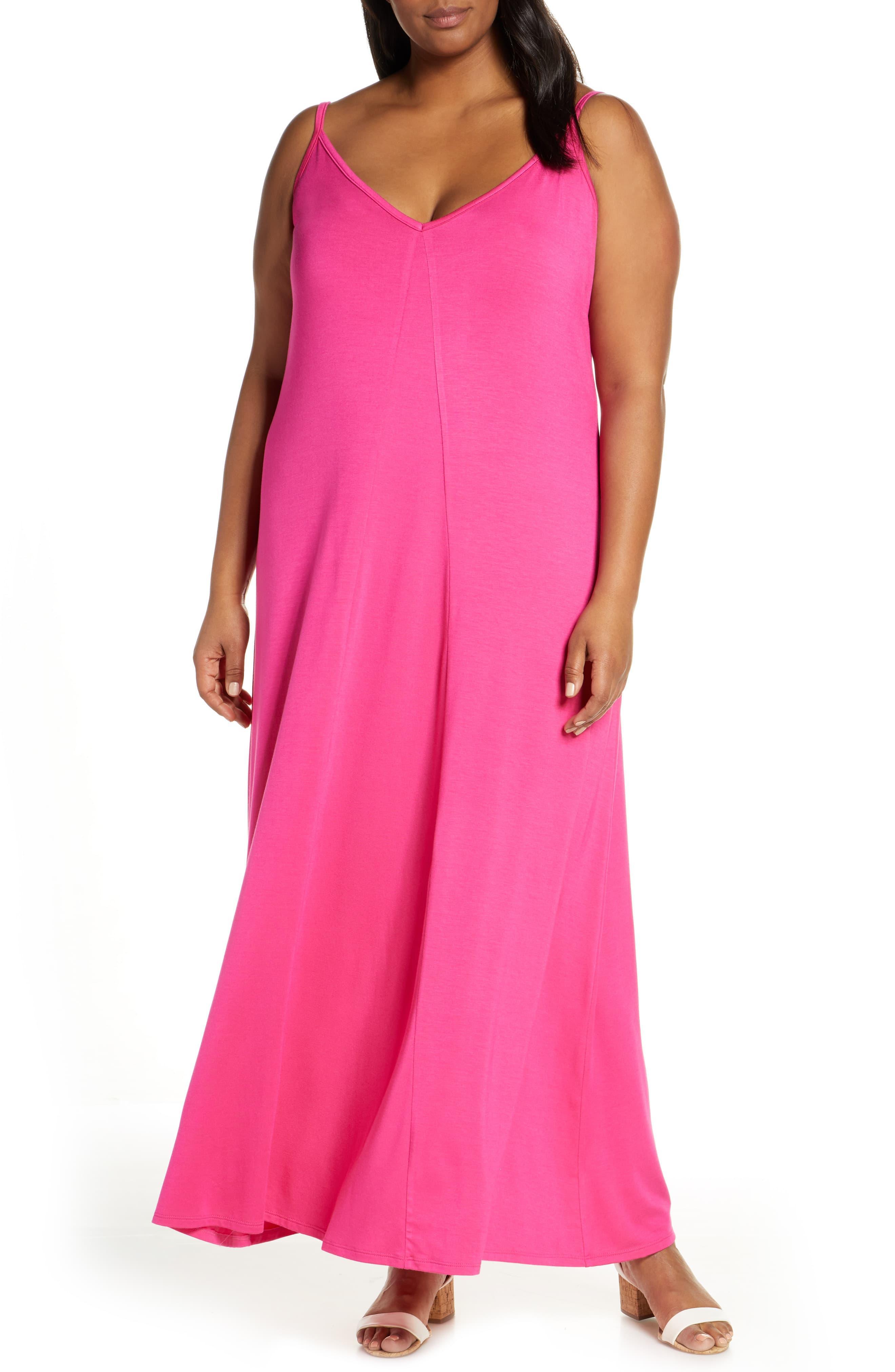 d7b38fb23b1 Lyst - Gibson X Living In Yellow Hazel Casual Knit Maxi Dress in Pink