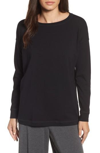 Eileen fisher jewel neck organic stretch cotton tee in for Eileen fisher organic cotton t shirt
