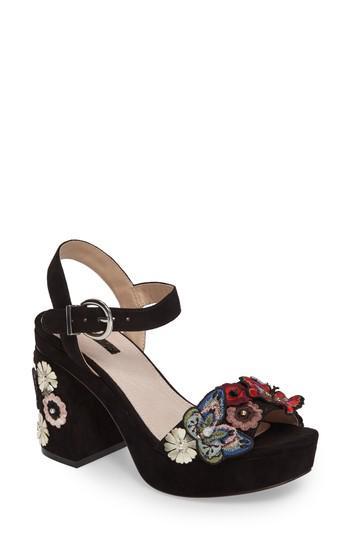4a877adfae39 Lyst - TOPSHOP Laney Embellished Platform Sandal in Black