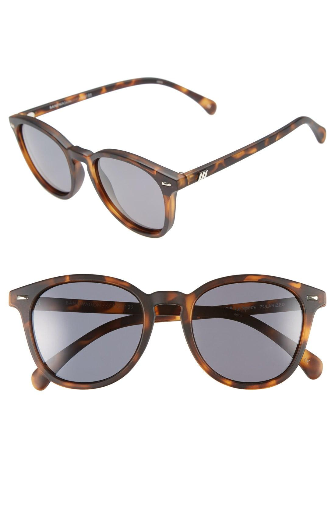 df5d4bb57d0f7 Lyst - Le Specs  bandwagon  51mm Polarized Sunglasses in Brown