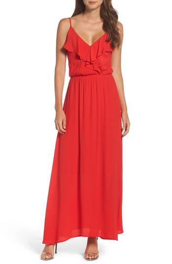 c9ad1866edaf Fraiche by j Blouson Maxi Dress in Red | Lyst