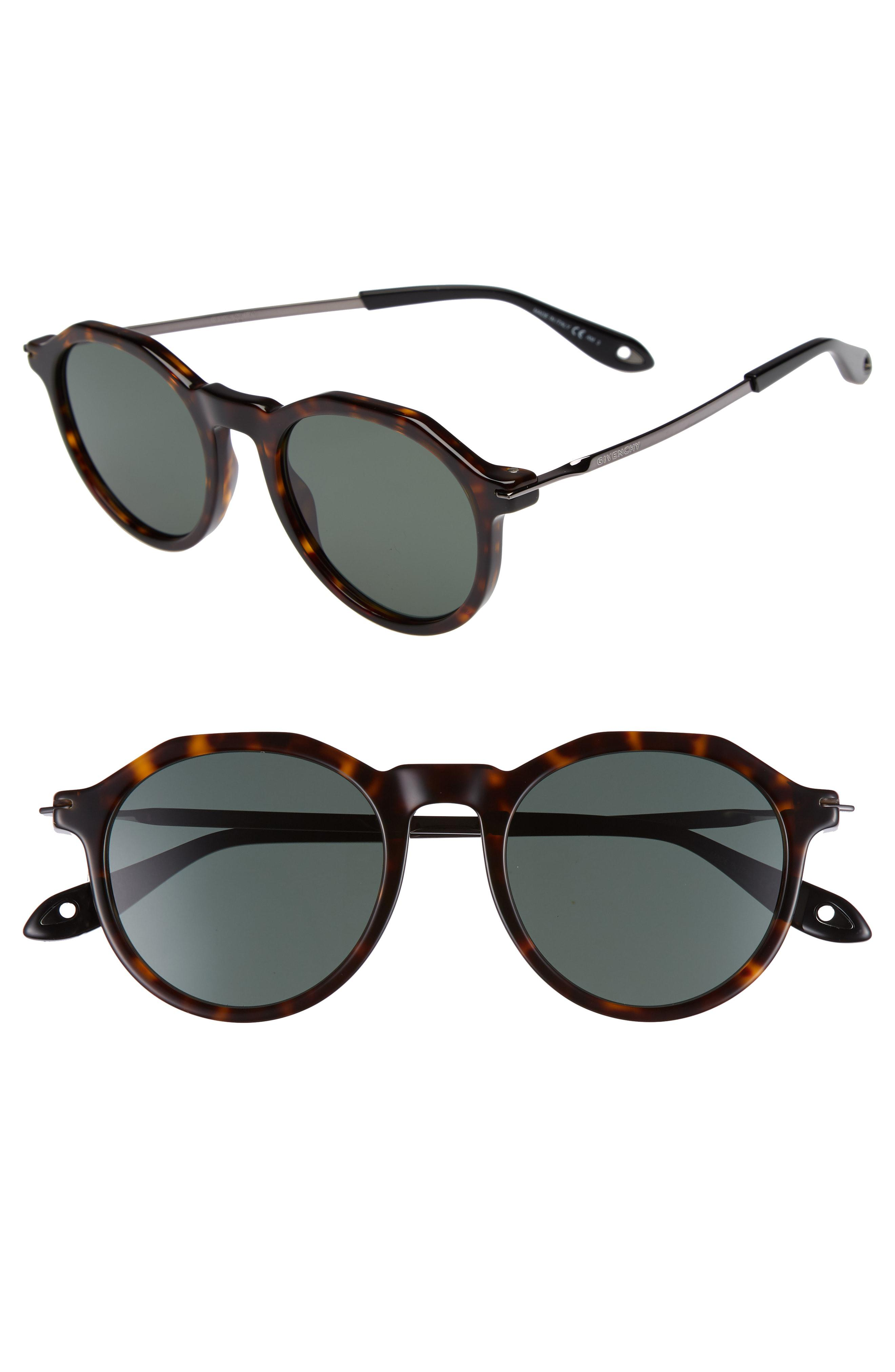 792b4a702c3 Lyst - Givenchy 51mm Round Sunglasses - in Black