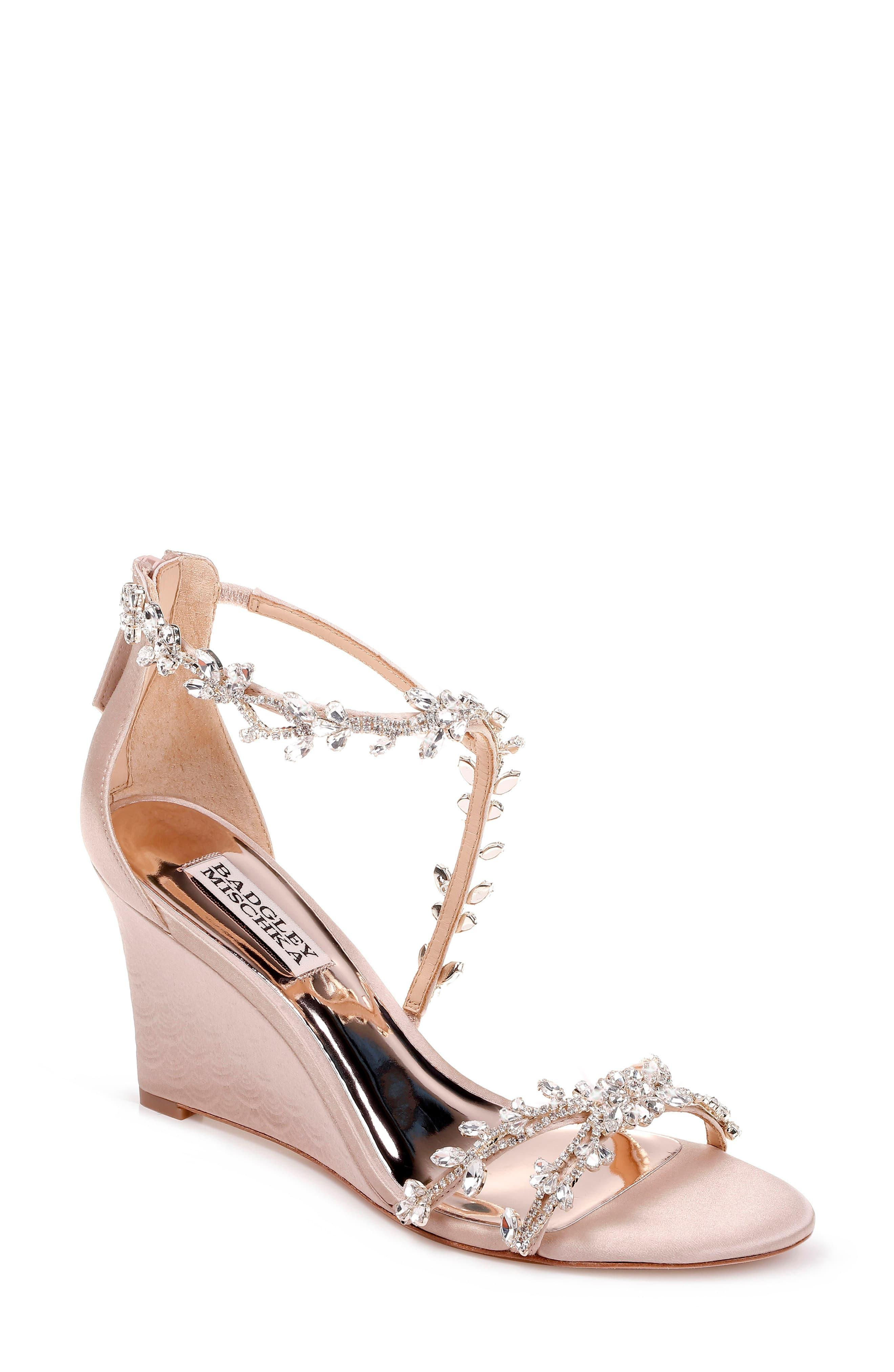 7c3d31841e Badgley Mischka. Women's Badgley Mischka Feather Crystal Embellished Wedge  Sandal