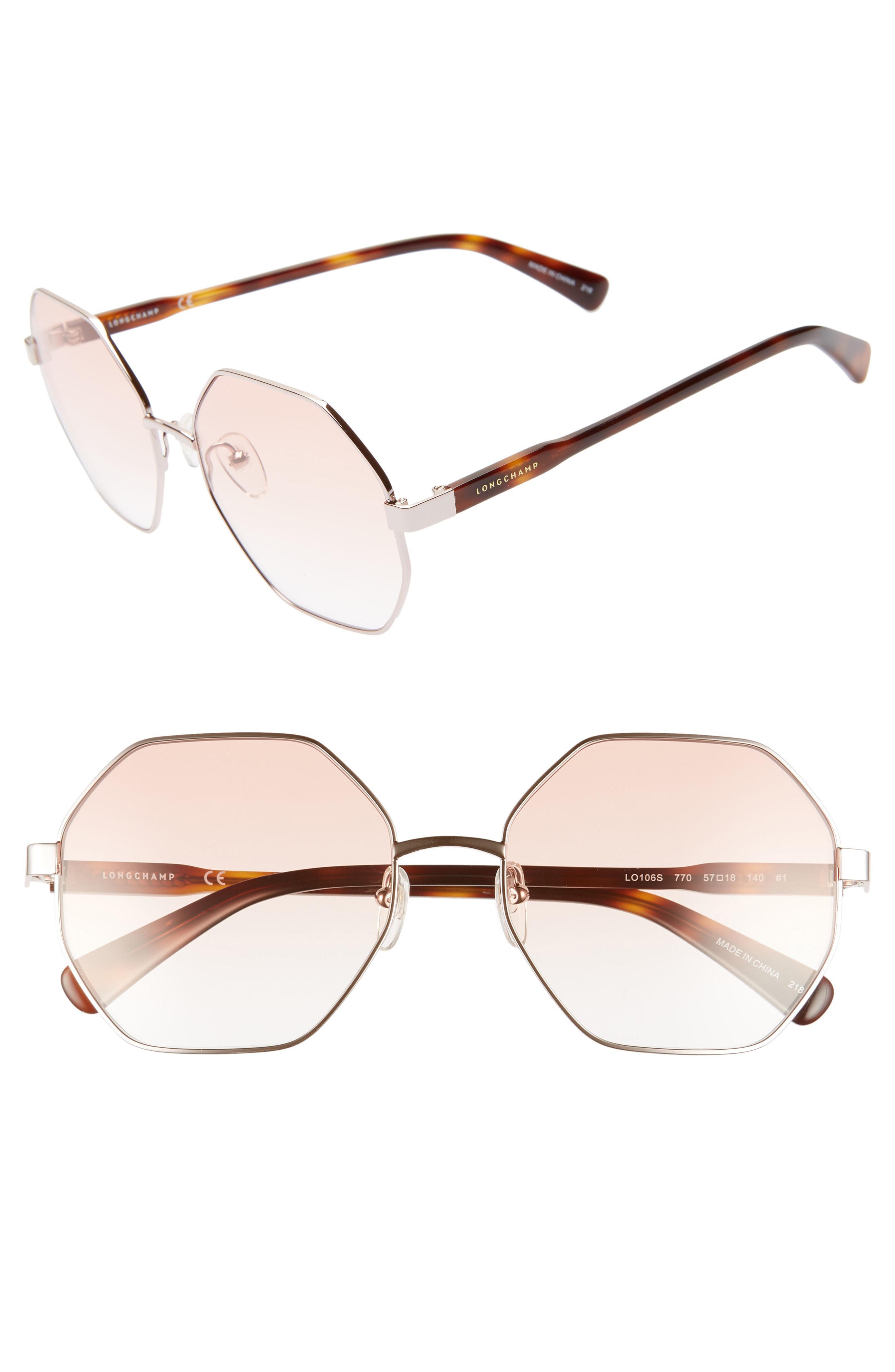 c7330a6b53 Longchamp - Multicolor Le Pliage 57mm Gradient Octagonal Sunglasses - Lyst.  View fullscreen